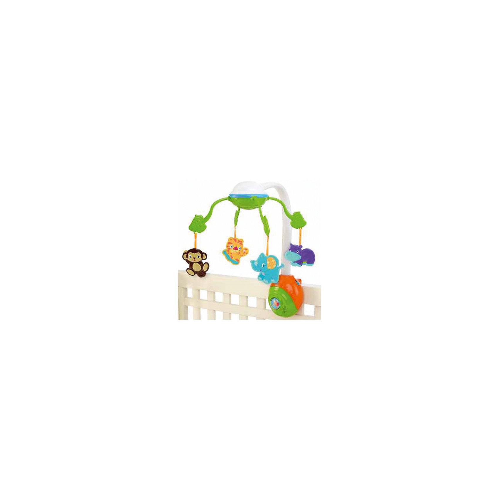 Музыкальный мобиль Сафари (5 мелодий, зеркало), Bright StartsМобили<br>Музыкальный мобиль Сафари (5 мелодий, зеркало), Bright Starts<br><br>Характеристики:<br><br>• Количество мелодий: 5<br>• Возраст: от 0 месяцев<br>• Количество деталей: мобиль с музыкальным блоком, 4 подвески.<br>• Наличие батареек: не входят в комплект.<br>• Тип батареек: 3 х С / LR14 1.5V (малые бочонки).<br>• Состав: пластик.<br>• Размер упаковки: 38 х 10 х 28 см.<br>• Размер игрушки: 48 x 32 x 50 см.<br>• Упаковка: картонная коробка.<br>• Страна обладатель бренда: США.<br><br>Мобиль с яркими животными оснащен черно-белыми элементами, которые малыш сможет увидеть с первых дней его жизни. Пять успокаивающих мелодий помогут малышу обрести крепкий сон. Кроме этого в комплекте есть зеркальце, сделанное из безопасного материала, который не навредит малышу. Оно привлечет внимание любого малыша и сделает игру еще интереснее. Крепление на кроватку очень надежное и гарантированно не упадет, даже вовремя активной игры.<br><br>Музыкальный мобиль Сафари (5 мелодий, зеркало), Bright Starts можно купить в нашем интернет-магазине.<br><br>Ширина мм: 381<br>Глубина мм: 95<br>Высота мм: 279<br>Вес г: 1428<br>Возраст от месяцев: 0<br>Возраст до месяцев: 60<br>Пол: Унисекс<br>Возраст: Детский<br>SKU: 2609736