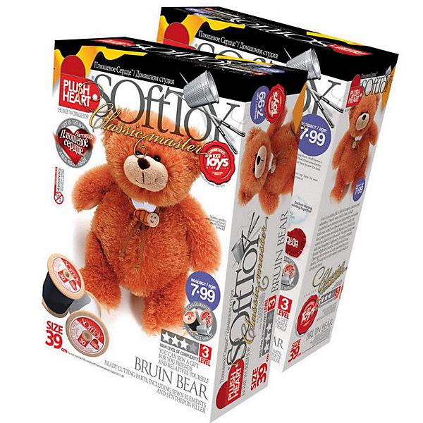 Plush heart Медведь ТоптыгинШитьё<br>Набор Plush heart Медведь Топтыгин служит для самостоятельного пошива мягкой ирушки. Набор развивает мелкую моторику, память, объемное воображение, цветовосприятие, способствует всестороннему развитию, познанию окружающего мира с помощью тактильных ощущений.<br>Набор предназначен  для обучения навыкам шитья, работе с различными материалами, иголкой, создания объемных форм из материи. Развивает пространственное воображение.<br><br>Дополнительная информация:<br><br>- Уровень сложности: высокий.<br>- Размер готового изделия 39 см.<br>- В комплекте: Пошитая голова игрушки, 4 лапы, хвост, 2 детали туловища, красная бандана, синтепоновая набивка, капроновый мешочек с полигранулами, нитки и Плюшевое сердце<br><br>Набор может использоваться как дома, так и на занятиях в специализированных кружках, на уроках технологии и др.<br><br>Plush heart Медведь Топтыгин можно купить в нашем магазине.<br><br>Ширина мм: 90<br>Глубина мм: 280<br>Высота мм: 190<br>Вес г: 330<br>Возраст от месяцев: 84<br>Возраст до месяцев: 144<br>Пол: Унисекс<br>Возраст: Детский<br>SKU: 2614045