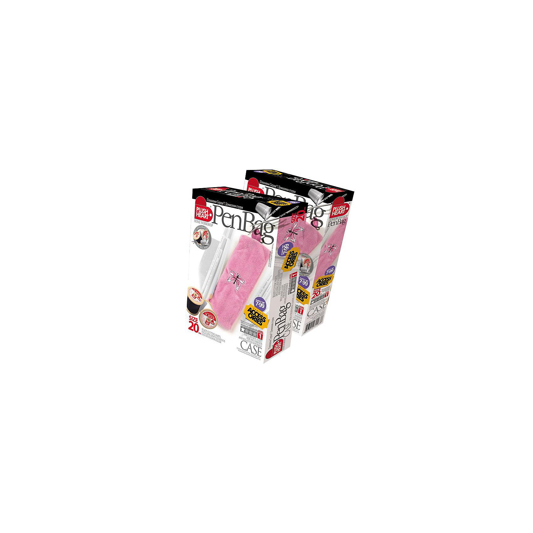 Plush heart Пенал розовый