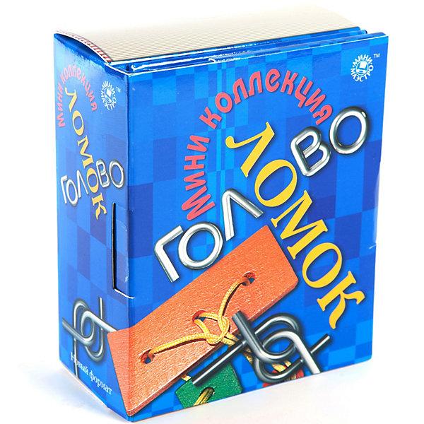 Набор Коллекция головоломокЖелезные головоломки<br>Мини-маэстро Коллекция головоломок включает в себя книгу, 4 металлические и 1 деревянную головоломки<br><br>Ширина мм: 95<br>Глубина мм: 52<br>Высота мм: 120<br>Вес г: 300<br>Возраст от месяцев: 72<br>Возраст до месяцев: 144<br>Пол: Унисекс<br>Возраст: Детский<br>SKU: 2614400