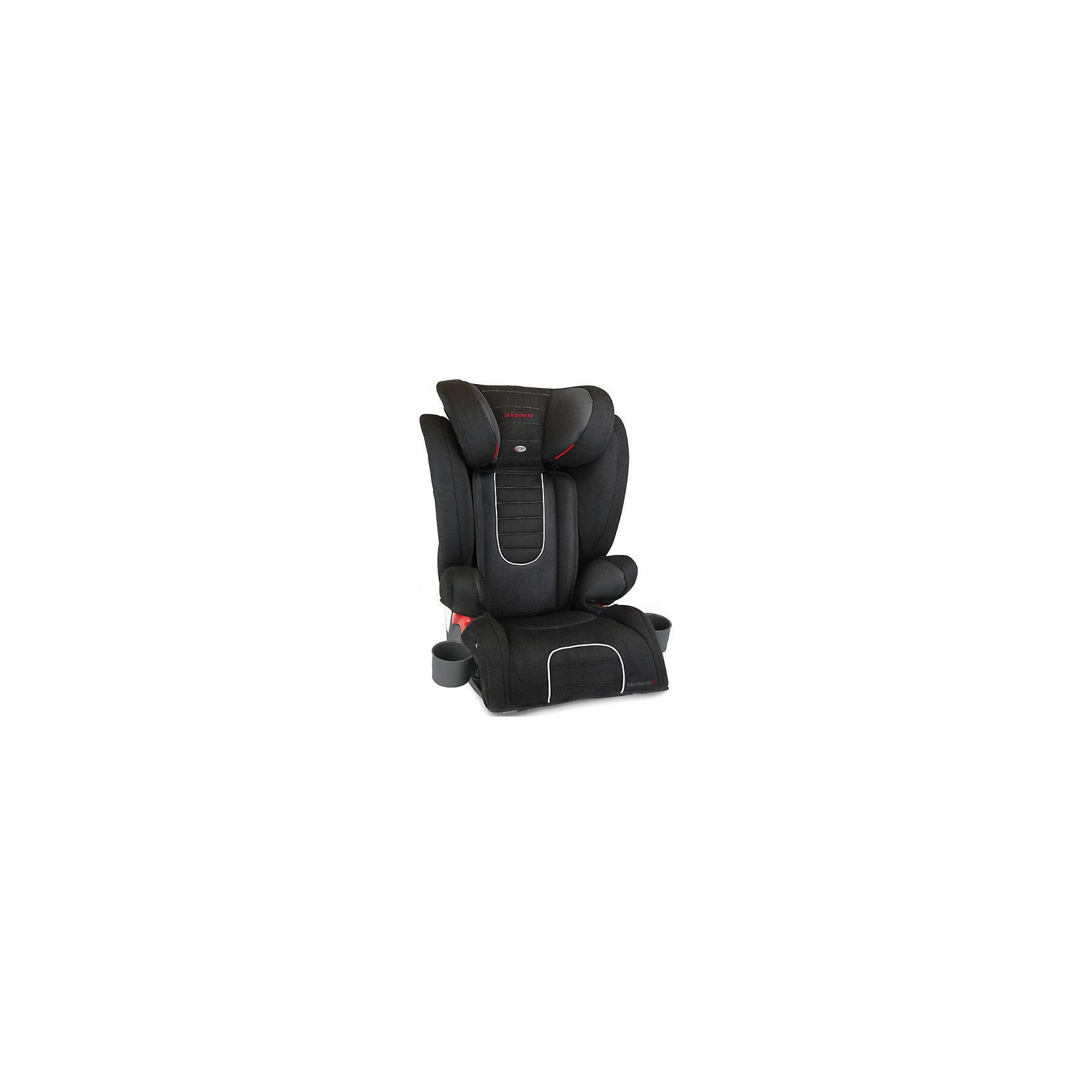Автокресло Monterey 2, 15-36 кг., Diono, BlackDiono Monterey 2 Black - превосходное автокресло для безопасности и удобства ребенка во время длительных поездок. Кресло удобно устанавливается по ходу движения автомобиля, благодаря 3-точечным ремням и легкой регулировке креплений с системой Isofix. Для повышенной безопасности автокресло оборудовано глубоким регулируемым подголовником и боковыми подушками. Удобство ребенку обеспечат регулируемая спинка, мягкая подкладка и два удобных подстаканника. Это кресло надежно защитит вашего ребенка!<br>Особенности и преимущества:<br>-для детей от 15 до 36 кг<br>-крепления Isofix<br>-боковые подушки для дополнительной боковой защиты<br>-11 положений подголовника; регулируется на высоту до 16 см<br>-дополнительные ремни безопасности<br>-2 подстаканника<br>-чехол легко снимается для стирки<br>Цвет: черный<br>Материал: металл, текстиль, пластик<br>Размеры: 50x40,5х66 см<br>Вес: 7,1 кг<br>Автокресло Diono Monterey 2 Black  можно купить в нашем интернет-магазине.<br><br>Ширина мм: 670<br>Глубина мм: 360<br>Высота мм: 430<br>Вес г: 8800<br>Возраст от месяцев: 48<br>Возраст до месяцев: 144<br>Пол: Унисекс<br>Возраст: Детский<br>SKU: 2614576