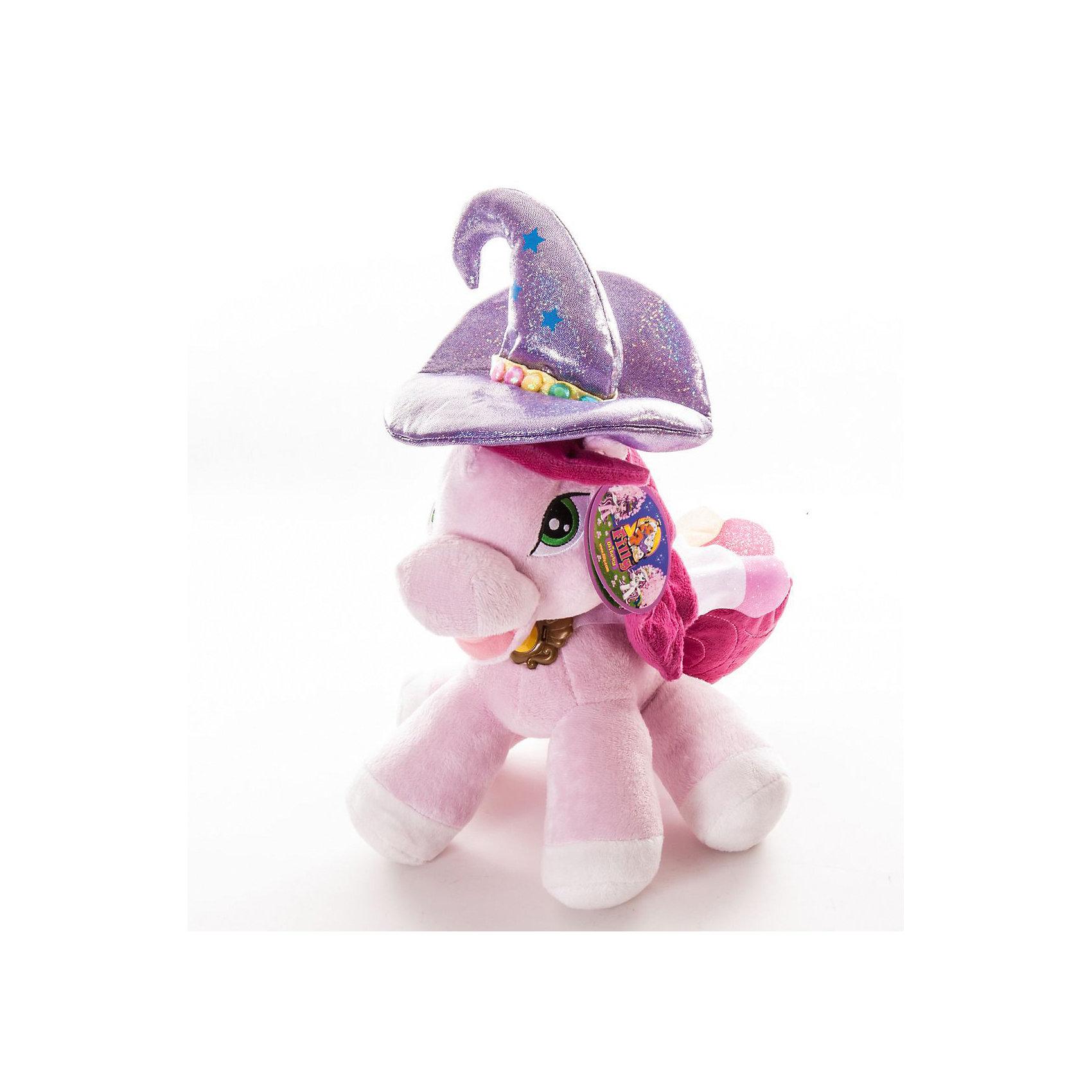 Мягкая игрушка лошадка Ведьма Кадабра, FillyМягкая игрушка лошадка Ведьма Кадабра Filly (Филли) станет замечательным подарком для Вашей девочки, особенно если она является поклонницей волшебных лошадок Филли.<br><br>Милая плюшевая Лошадка Кадабра очень мягкая и приятная на ощупь. У нее зеленые глазки, остроконечная волшебная шляпа со звездами и разноцветными бусинами, а на шее - магический кристалл, с помощью которого она может колдовать. Игрушка выполнена в нежных розовых тонах. Данная модель способствует развитию воображения и тактильной чувствительности у детей.<br><br>Дополнительная информация:<br><br>- Материал: ткань, пластик.<br>- Размер лошадки: 25 см. <br>- Размер упаковки: 20 x 23 x 11 см.<br>- Вес: 0,168 кг. <br><br>Мягкую игрушку лошадку Ведьма Кадабра Filly  можно купить в нашем интернет-магазине.<br><br>Ширина мм: 245<br>Глубина мм: 185<br>Высота мм: 96<br>Вес г: 127<br>Возраст от месяцев: 36<br>Возраст до месяцев: 36<br>Пол: Женский<br>Возраст: Детский<br>SKU: 2619388