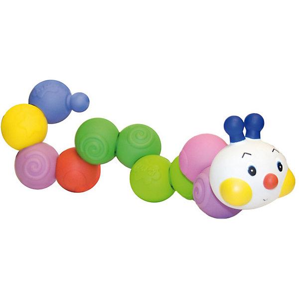 Сортер ГусеничкаРазвивающие игрушки<br>Сортер Гусеничка - яркая и красочная развивающая игрушка-конструктор для малышей от 6 месяцев.<br>Сортер состоит из цветных резиновых шариков, соединяющихся друг с другом в любой последовательности. Игрушку можно собирать и разбирать снова и снова!<br><br>Игрушка способствует развитию моторики и координации движений малыша, способствует развитию воображения и творческих способностей, ведь из форм можно собрать не только гусеничку, но и другие фигуры<br><br>Дополнительная информация:<br><br>- Игрушка сборно-разборная.<br>- Диаметр шариков: ок.4 см.<br>- Длина гусеницы: 52 см.<br>- Материал: резина.<br><br>Ширина мм: 255<br>Глубина мм: 70<br>Высота мм: 175<br>Вес г: 495<br>Возраст от месяцев: 6<br>Возраст до месяцев: 36<br>Пол: Унисекс<br>Возраст: Детский<br>SKU: 2620726