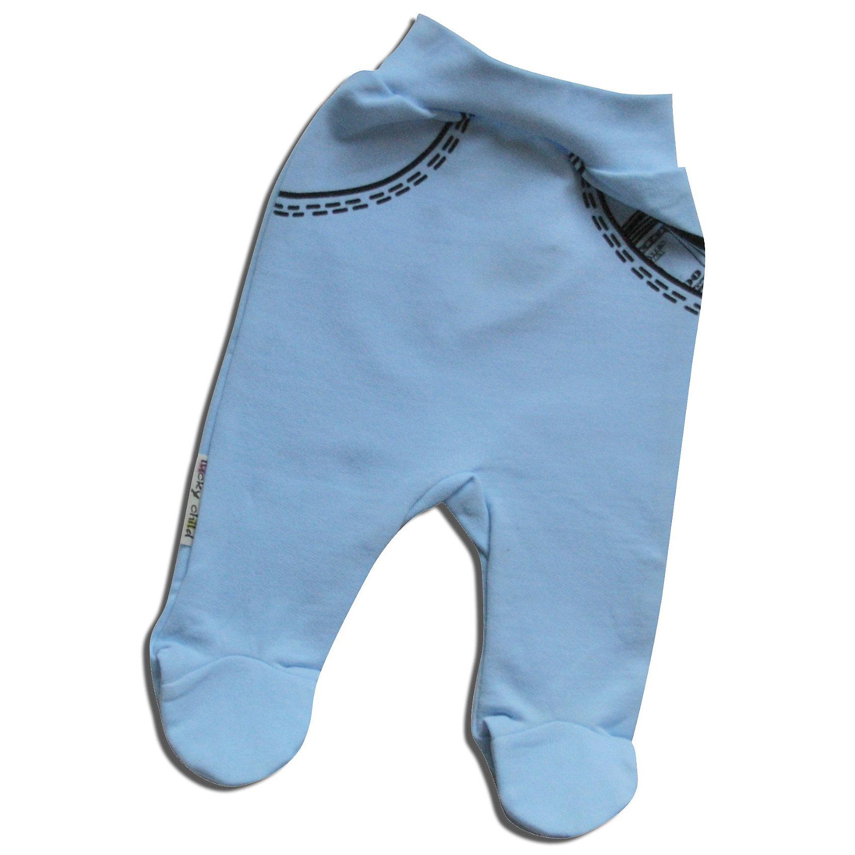Lucky Child Ползунки для мальчикаПолзунки и штанишки<br>Нежные ползунки с закрытыми пяточками для мальчика. Мягкий эластичный пояс из трикотажной резинки. Приятный к телу натуральный гипоаллергенный материал (100 % хлопок).<br><br>Ширина мм: 157<br>Глубина мм: 13<br>Высота мм: 119<br>Вес г: 200<br>Цвет: голубой<br>Возраст от месяцев: 2<br>Возраст до месяцев: 5<br>Пол: Мужской<br>Возраст: Детский<br>Размер: 56/62,80/86,62/68,68/74,74/80<br>SKU: 2635096