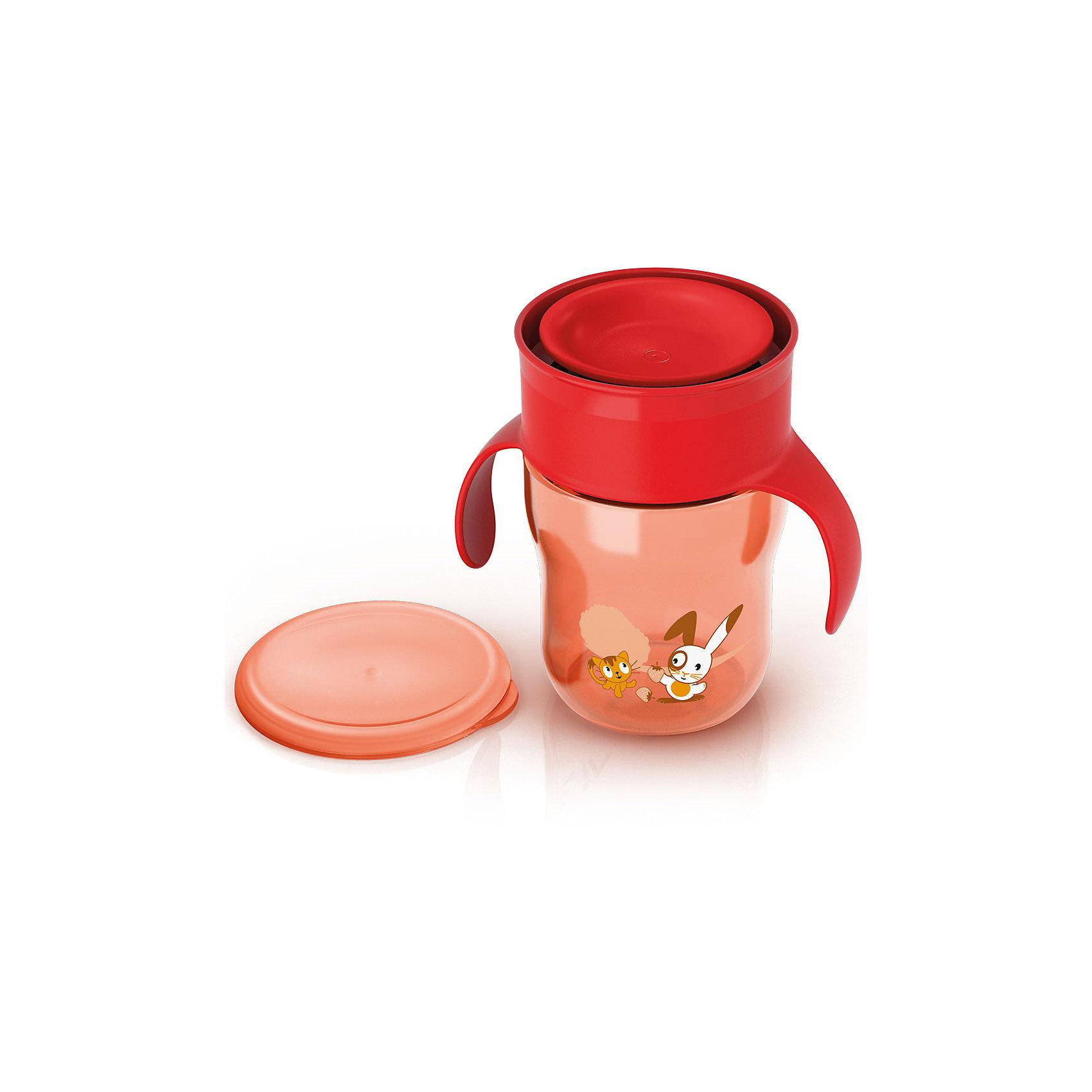 Поильник-чашка , 260мл, AVENT, красный от myToys
