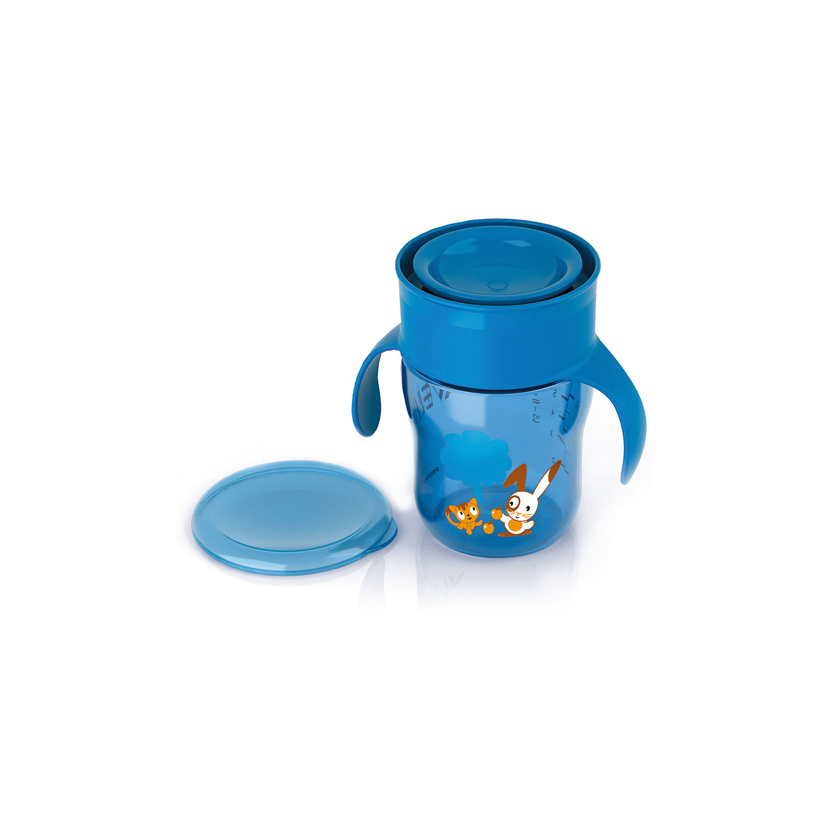 Поильник-чашка 260мл,  AVENT, синий