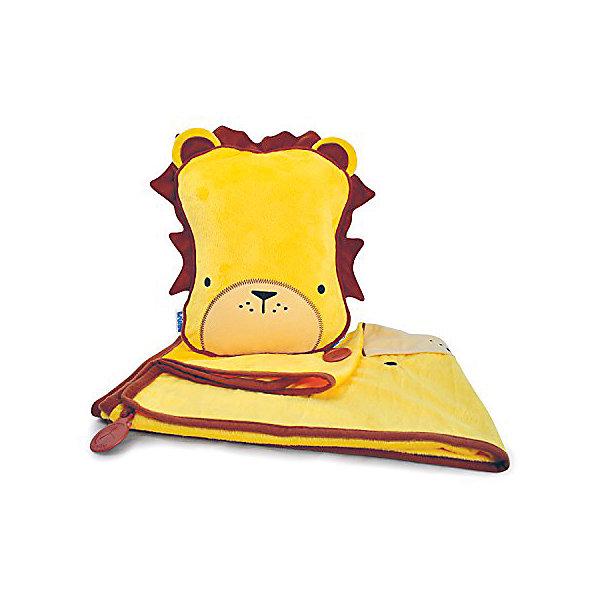TRUNKI Подушка с пледом, ЛевШейные подушки<br>Удивительно полезный дорожный набор должен быть у каждого маленького путешественника! Подушку с пледом внутри легко и просто можно брать с собой в самолет, поезд или машину. Ваш малыш теперь будет с комфортом спать в дороге, положив головку на мягкую надувную подушку и укрывшись одеялом. <br>Подушка выполнена в виде забавной розовой рожицы. На пледе есть специальный кармашек, куда можно посадить свою любимую игрушку, чтобы она тоже поспала. Имеется уникальный «замочек», с помощью которого крепится угол одеяла к подушке, чтобы плед не свалился в момент сна. В это время родители смогут также отдохнуть и расслабиться в полной тишине.  <br>Размер подушки: 26 х 21 см. <br>Размер пледа: 70 х 90 см<br>Ширина мм: 245; Глубина мм: 130; Высота мм: 335; Вес г: 502; Возраст от месяцев: 36; Возраст до месяцев: 96; Пол: Мужской; Возраст: Детский; SKU: 2808079;