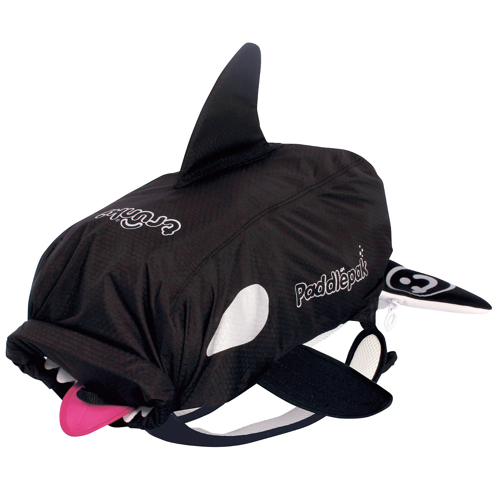 Рюкзак универсальный КОСАТКАУниверсальный рюкзак Касатка - стильный нарядный рюкзачок, который замечательно подойдет для занятий спортом, поездок и путешествий. Необычный рюкзак выполнен из прочного водоотталкивающего материала в виде касатки черно-белого цвета с плавниками. Рюкзак<br>закрывается с помощью оригинальной крышки-скрутки, а уникальная застежка top-roll сохранит содержимое и защитит от проникновения воды. Внутри одно большое отделение с вместительным карманом глубиной 40 см. На внешней стороне рюкзака имеются специальное крепление, куда можно подвесить детские солнцезащитные очки, а также сетчатый карман и карман в виде хвоста касатки для различных мелочей. Рюкзак оснащен широкими эргономичными лямками, которые регулируются до нужного размера. Светоотражающие элементы обеспечивают безопасность на дороге и в темное время суток. Яркий стильный аксессуар непременно понравится Вашему ребенку и превратит любую поездку в веселое приключение.<br><br>Дополнительная информация:<br><br>- Материал: текстиль. <br>- Объем: 10 л. <br>- Размер рюкзака: 54 х 32 х 12 см.<br>- Размер упаковки: 54 х 32 х 5 см.<br>- Вес: 0,3 кг.<br><br>Рюкзак универсальный Касатка, Trunki, можно купить в нашем интернет-магазине.<br><br>Ширина мм: 524<br>Глубина мм: 367<br>Высота мм: 46<br>Вес г: 266<br>Возраст от месяцев: 36<br>Возраст до месяцев: 60<br>Пол: Унисекс<br>Возраст: Детский<br>SKU: 2808084