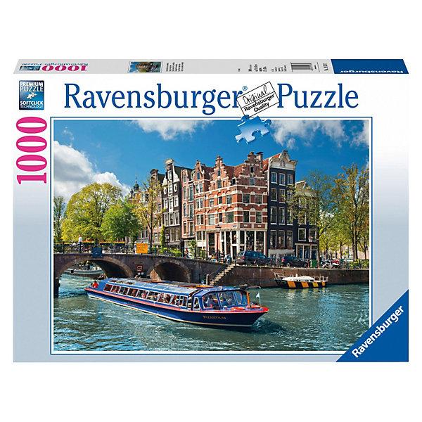 Пазл Каналы Амстердама Ravensburger, 1000 деталейПазлы классические<br>Мечтаете побывать в Амстердаме? Или уже посетили его и хотели бы вспомнить прекрасные моменты своего пребывания в этой столице? Тогда этот красочный пазл из 1000 деталей Каналы Амстердама от Ravensburger для Вас!<br><br>Высочайшее качество картона и полиграфии, насыщенные цвета, а также идеальная стыковка деталей принесут массу удовольствия от процесса сборки. Исполнение пазла настолько качественно, что, сложив все элементы вместе, Вы получите отличную фотографию крупного формата.<br><br>Вы также можете приобрести в нашем интернет-магазине специальный клей для пазлов от Ravensburger, который позволит зафиксировать собранную картинку и повесить ее на стену.<br><br>Собирайте красочные пазлы от Ravensburger и открывайте для себя различные уголки мира!<br><br>Дополнительная информация:<br><br>- Количество деталей: 1000 шт.<br>- Размер готовой картинки: 70 х 50 см<br>Ширина мм: 376; Глубина мм: 276; Высота мм: 59; Вес г: 994; Возраст от месяцев: 144; Возраст до месяцев: 228; Пол: Унисекс; Возраст: Детский; Количество деталей: 1000; SKU: 2886914;