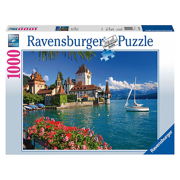 Пазл Берн, озеро Ravensburger, 1000 деталейПазлы классические<br>Швейцария славится удивительной красотой своей природы и архитектуры! Мысленно перениситесь к прозрачному озеру города Берн, собрав пазл Берн, озеро от Ravensburger из 1000 деталей.<br><br>Вы также можете скрепить получившуюся картинку специальным клеем от Ravensburger и украсить ею свою комнату.<br><br>Пазл отличается высочайшим качеством полиграфии, насыщенными цветами, идеальной стыковкой элементов, изготовленных из плотного, нерасслающегося картона. Особая техника штамповки компании Ravensburger гарантирует, что каждая деталь идеально встанет на свое место, картинка будет прочно фиксироваться при сборке и не сломается, если ее случайно задеть.<br><br>Этот красивый пазл с живописным пейзажем можно складывать всей семьей, с друзьями или, напротив, одному, отдыхая от каждодневной суеты и стресса. Такое увлекательное занятие разнообразит Ваш досуг и позволит с пользой проводить свободное время: сбор пазлов разивает воображение, пространственное мышление, фантазию, внимание, память.<br><br>Пазл Берн, озеро от Ravensburger - частица Швейцарии у Вас дома!<br><br><br>Дополнительная информация:<br><br>- Количество деталей: 1000 шт.<br>- Размер готовой картинки: 70 х 50 см<br><br>Ширина мм: 376<br>Глубина мм: 273<br>Высота мм: 56<br>Вес г: 858<br>Возраст от месяцев: 144<br>Возраст до месяцев: 228<br>Пол: Унисекс<br>Возраст: Детский<br>Количество деталей: 1000<br>SKU: 2886915
