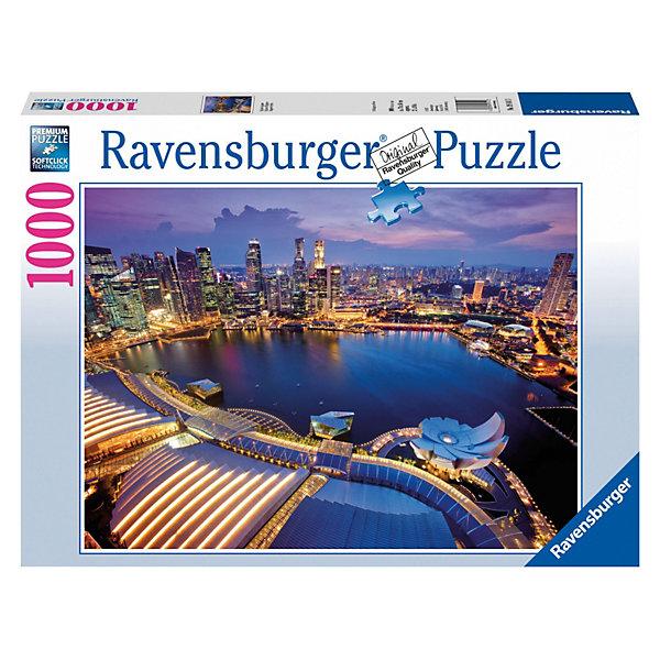 Пазл Небоскребы Сингапура Ravensburger, 1000 деталейПазлы классические<br>Потрясающе красивый вид на Сингапур откроется перед Вами, когда Вы соберете пазл из 1000 деталей Небоскребы Сингапура от Ravensburger! Вы как будто стоите на вершине одного из небоскребов, а перед Вами - великолепный город с его современной архитектурой, огнями и динамикой!<br><br>Все пазлы немецкой компании Ravensburger славятся высочайшим качеством полиграфии и идеальной стыковкой элементов. Благодаря особому штамповочному оборудованию данный производитель достигает непревзойденного многообразия форм деталей.<br><br>Пазлы от Ravensburger соберут всю семью вместе и не дадут скучать!<br><br><br>Дополнительная информация:<br><br>- Количество деталей: 1000 шт.<br>- Размер готовой картинки: 70 х 50 см<br>Ширина мм: 373; Глубина мм: 281; Высота мм: 58; Вес г: 897; Возраст от месяцев: 144; Возраст до месяцев: 228; Пол: Унисекс; Возраст: Детский; Количество деталей: 1000; SKU: 2886917;