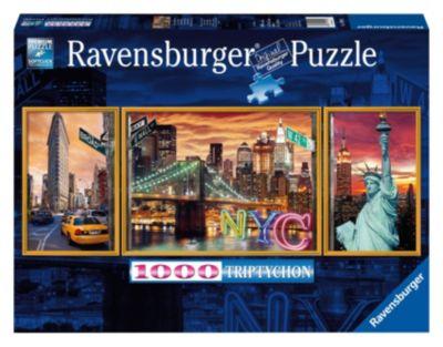 Пазл-триптих Ослепительный Нью Йорк Ravensburger, 1000 деталей