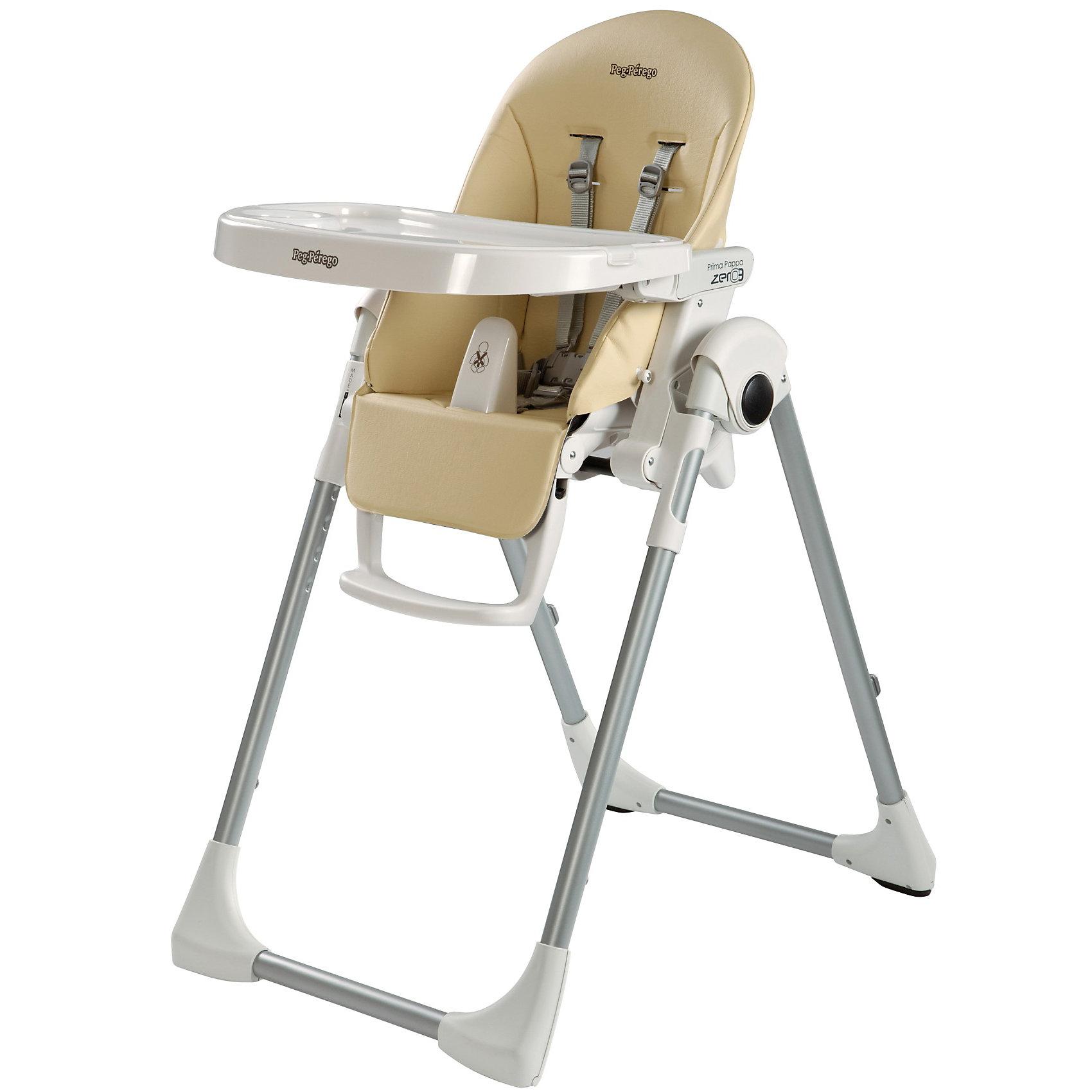 Стульчик для кормления Prima Pappa Zero3, Peg-Perego, Paloma кремУдобный и функциональный стульчик Prima Pappa Zero3, Peg-Perego, обеспечит комфорт и безопасность Вашего малыша во время кормления. Спинка сиденья легко регулируется в 5 положениях (вплоть до горизонтального), что позволяет использовать стульчик как для кормления так<br>и для игр и сна. Широкое и эргономичное мягкое сиденье будет удобно как малышу, так и ребенку постарше. Стульчик оснащен регулируемыми 5-точечными ремнями безопасности, а планка-разделитель для ножек под столиком не даст малышу соскользнуть. Высота стула<br>регулируется в 7 положениях, выбрав самое низкое положение и убрав столик, Вы легко трансформируете стул для кормления в низкий безопасный детский стульчик, куда ребенок может садиться сам. Подножка регулируется в 3 позициях, позволяя выбрать оптимальное для ребенка<br>положение. <br><br>Широкий съемный столик оснащен подносом с отделениями для кружки или стакана, поднос можно снять для быстрой чистки и использовать основную поверхность для игр и занятий. Для детей постарше стул можно использовать без столика для кормления, придвинув его к столу<br>для взрослых. Ножки оснащены колесиками с блокираторами, что позволяет легко перемещать стульчик по комнате. Кожаный чехол легко снимаются для чистки. Стульчик легко и компактно складывается и занимает мало места при хранении. Подходит для детей в возрасте от 0<br>месяцев до 3 лет.<br><br>Дополнительная информация:<br><br>- Цвет: Paloma крем.<br>- Материал: пластик, эко-кожа.<br>- Размер в разложенном состоянии: 55 х 76 х 105 см. <br>- Размер в сложенном состоянии: 58 х 28,5 х 103,5 cм. <br>- Вес: 7,6 кг.<br><br>Стульчик для кормления Prima Pappa Zero3, Peg-Perego, Paloma крем, можно купить в нашем интернет-магазине.<br><br>Ширина мм: 960<br>Глубина мм: 560<br>Высота мм: 300<br>Вес г: 9800<br>Возраст от месяцев: 0<br>Возраст до месяцев: 36<br>Пол: Унисекс<br>Возраст: Детский<br>SKU: 2976696