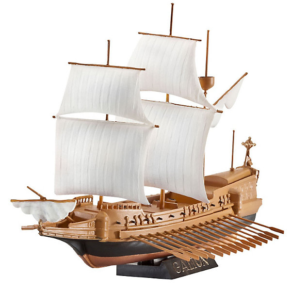 Набор Испанский ГалеонКорабли и лодки<br>Характеристики товара:<br><br>• возраст: от 10 лет;<br>• цвет: коричневый;<br>• масштаб: 1:450;<br>• количество деталей: 19 шт;<br>• материал: пластик;<br>• клей и краски в комплект не входят;<br>• длина модели: 14 см;<br>• высота модели: 9,7 см;<br>• бренд, страна бренда: Revell (Ревел), Германия;<br>• страна-изготовитель: Китай.<br><br>Набор для сборки «Испанский Галеон» поможет вам и вашему ребенку придумать увлекательное занятие на долгое время. <br><br>Галеоны появились в середине XVI века и были ярчайшими представителями кораблей времен золотого века парусного флота. Испанская Непобедимая армада состояла именно из галеонов, помимо этого, именно они часто использовались для перевозки грузов из колоний в старый свет.<br><br>Классический галеон - двухпалубное судно с высокой кормой. Модель Revell в точности повторяет оригиналы, тщательно воспроизводя каждую деталь, собирать такую - одно удовольствие!<br><br>В комплект набора для склеивания и раскрашивания входит: 19 пластиковых деталей, кисточка, 2 баночки краски и клей. А также подробная иллюстрирована инструкция.<br><br>Моделирование — это очень увлекательное и полезное занятие, которое по достоинству оценят не только дети, но и взрослые, увлекающиеся военной техникой. Сборка моделей поможет ребенку развить воображение, мелкую моторику ручек и логическое мышление.<br><br>Набор для сборки «Испанский Галеон», 31 дет., Revell (Ревел) можно купить в нашем интернет-магазине.<br><br>Ширина мм: 270<br>Глубина мм: 33<br>Высота мм: 155<br>Вес г: 230<br>Возраст от месяцев: 96<br>Возраст до месяцев: 1188<br>Пол: Мужской<br>Возраст: Детский<br>SKU: 3000683