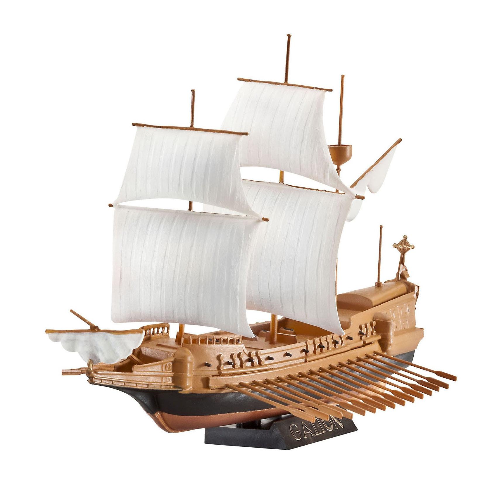 """Испанский Галеон, RevellИспанский Галеон, Revell (Ревелл) – эта максимально детализированная модель станет украшением комнаты и дополнением коллекции.<br>Галеон является одним из самых ярких представителей кораблей времен золотого века парусного флота. Впервые суда данного типа появились в середине шестнадцатого века. На протяжении века галеоны были основными судами испанского флота. Именно из этих кораблей состояла """"Непобедимая армада"""" – испанский флот, насчитывающий 130 судов. Чаще галеоны использовали для перевозки грузов из испанских колоний в Европу. Сборная модель испанского галеона от Revell (Ревелл) является абсолютно точной уменьшенной копией своего прототипа. Модель состоит из 19 деталей, которые необходимо собрать, склеить и покрыть краской в соответствии с инструкцией. В наборе также прилагаются клей в удобной упаковке, краски и кисточка. Модель тщательно проработана. Моделирование считается одним из наиболее полезных хобби, ведь оно развивает интеллектуальные и инструментальные способности, воображение и конструктивное мышление. Прививает практические навыки работы со схемами и чертежами.<br><br>Дополнительная информация:<br><br>- В наборе: комплект пластиковых деталей для сборки модели, базовые акриловые краски, клей, кисточка, инструкция<br>- Количество деталей: 19 шт.<br>- Масштаб: 1:450<br>- Длина модели: 140 мм.<br>- Ширина модели: 97 мм.<br>- Уровень сложности: 2 (из 5)<br>- Дополнительно потребуются: кусачки, для того чтобы отделить детали с литников<br>- Краски из набора можно разбавлять обычной водой или фирменным растворителем Revell (Ревелл)<br><br>Модель Испанского Галеона, Revell (Ревелл) можно купить в нашем интернет-магазине.<br><br>Ширина мм: 270<br>Глубина мм: 33<br>Высота мм: 155<br>Вес г: 230<br>Возраст от месяцев: 96<br>Возраст до месяцев: 1188<br>Пол: Мужской<br>Возраст: Детский<br>SKU: 3000683"""