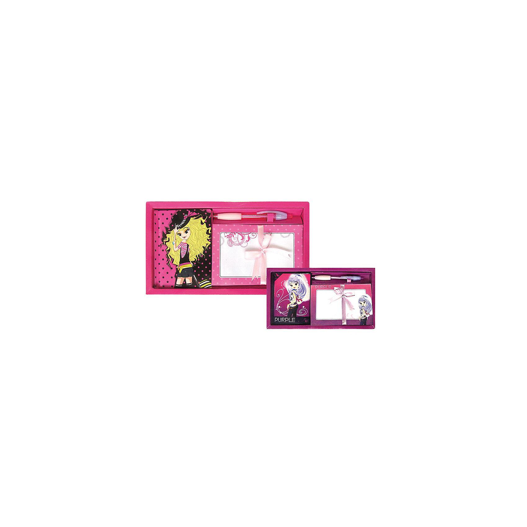 Подарочный набор Модная коллекцияПодарочный набор «Модная коллекция» привлечет внимание каждой девочки и станет не только красивым, но и функциональным подарком для нее. Предметы набора, выполнены в яркой цветовой гамме. Набор упакован в оригинальную подарочную коробку.<br>В наборе: блокнот 50л. 9,5х13 см, 5 конвертов, 10 листов бумаги д/письма, шариковая ручка.<br><br>Ширина мм: 140<br>Глубина мм: 110<br>Высота мм: 20<br>Вес г: 184<br>Возраст от месяцев: 60<br>Возраст до месяцев: 144<br>Пол: Женский<br>Возраст: Детский<br>SKU: 3097252