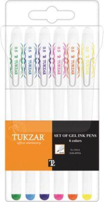 TUKZAR Набор гелевых ручек: 6 цветов, флуоресцентные
