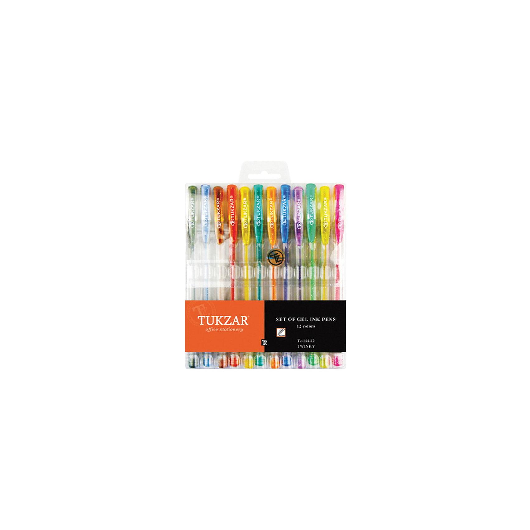 TUKZAR Набор гелевых ручек: суперметаллик с блестками, 12 цветовНабор гелевых ручек: пластиковый прозрачный корпус с блестками и колпачком, чернила - суперметаллик с блестками, в упаковке с европодвесом, 12 цветов.<br><br>Ширина мм: 179<br>Глубина мм: 135<br>Высота мм: 14<br>Вес г: 110<br>Возраст от месяцев: 36<br>Возраст до месяцев: 1188<br>Пол: Унисекс<br>Возраст: Детский<br>SKU: 3098121