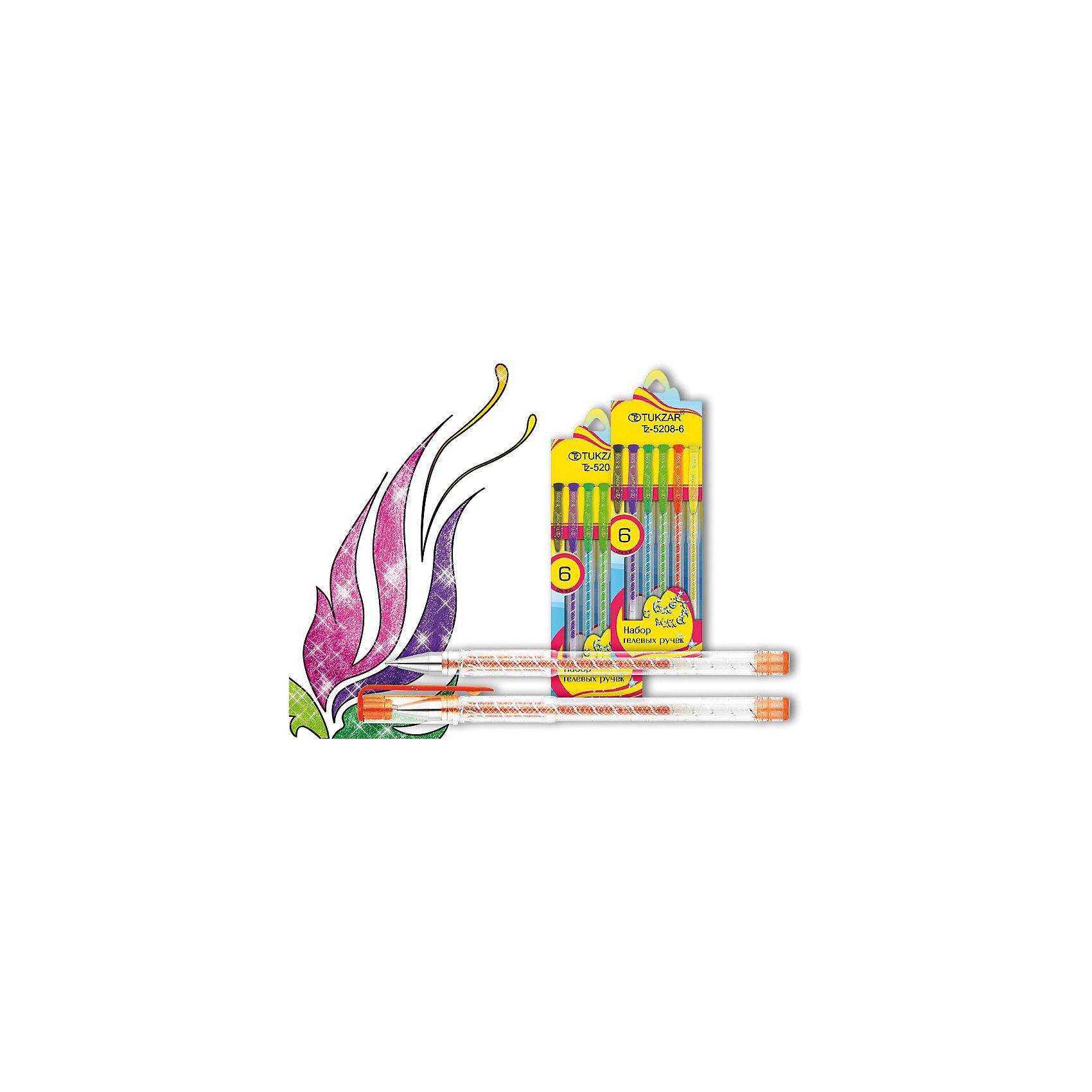 TUKZAR TUKZAR Набор гелевых ручек суперметаллик 6 цв. ручки centrum набор цветных гелевых ручек 6 цветов