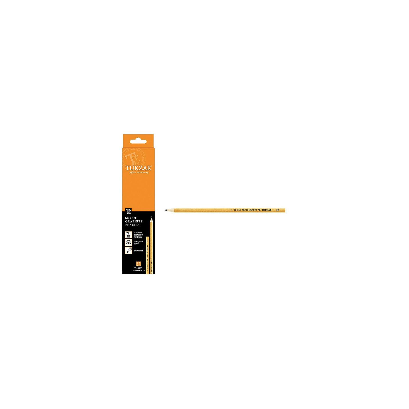 TUKZAR Набор чернографитных карандашей, 12 шт.Набор деревянных шестигранных заточенных чернографитных карандашей. Состав набора: 2Т - 1 шт; Т - 1 шт; ТМ - 2 шт; М - 1 шт; 2М - 1 шт<br><br>Ширина мм: 208<br>Глубина мм: 50<br>Высота мм: 15<br>Вес г: 70<br>Возраст от месяцев: 36<br>Возраст до месяцев: 1188<br>Пол: Унисекс<br>Возраст: Детский<br>SKU: 3098133