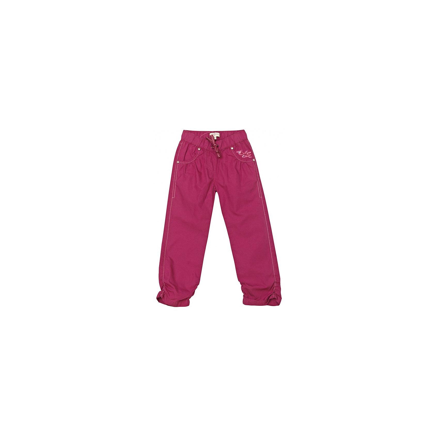 Брюки для девочки PlayTodayБрюки<br>Брюки для девочки от популярного бренда PlayToday.<br>*модные хлопковые брюки цвета фуксии <br>*пояс на резинке завязывается на шнурок<br>*четыре функциональных кармана<br>*на карманах заклепки – стразы<br>*вышивка<br>*по бокам штанины собраны на резинку <br>Состав:<br>100% хлопок<br><br>Ширина мм: 215<br>Глубина мм: 88<br>Высота мм: 191<br>Вес г: 336<br>Цвет: фуксия<br>Возраст от месяцев: 36<br>Возраст до месяцев: 48<br>Пол: Женский<br>Возраст: Детский<br>Размер: 104,122,110,98,116,128<br>SKU: 3100726