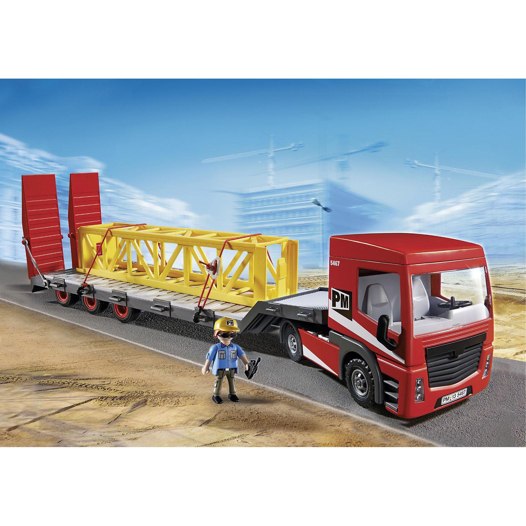 PLAYMOBIL® PLAYMOBIL 5467 Стройка: Большой грузовик конструкторы playmobil стройка строитель с отбойным молотком