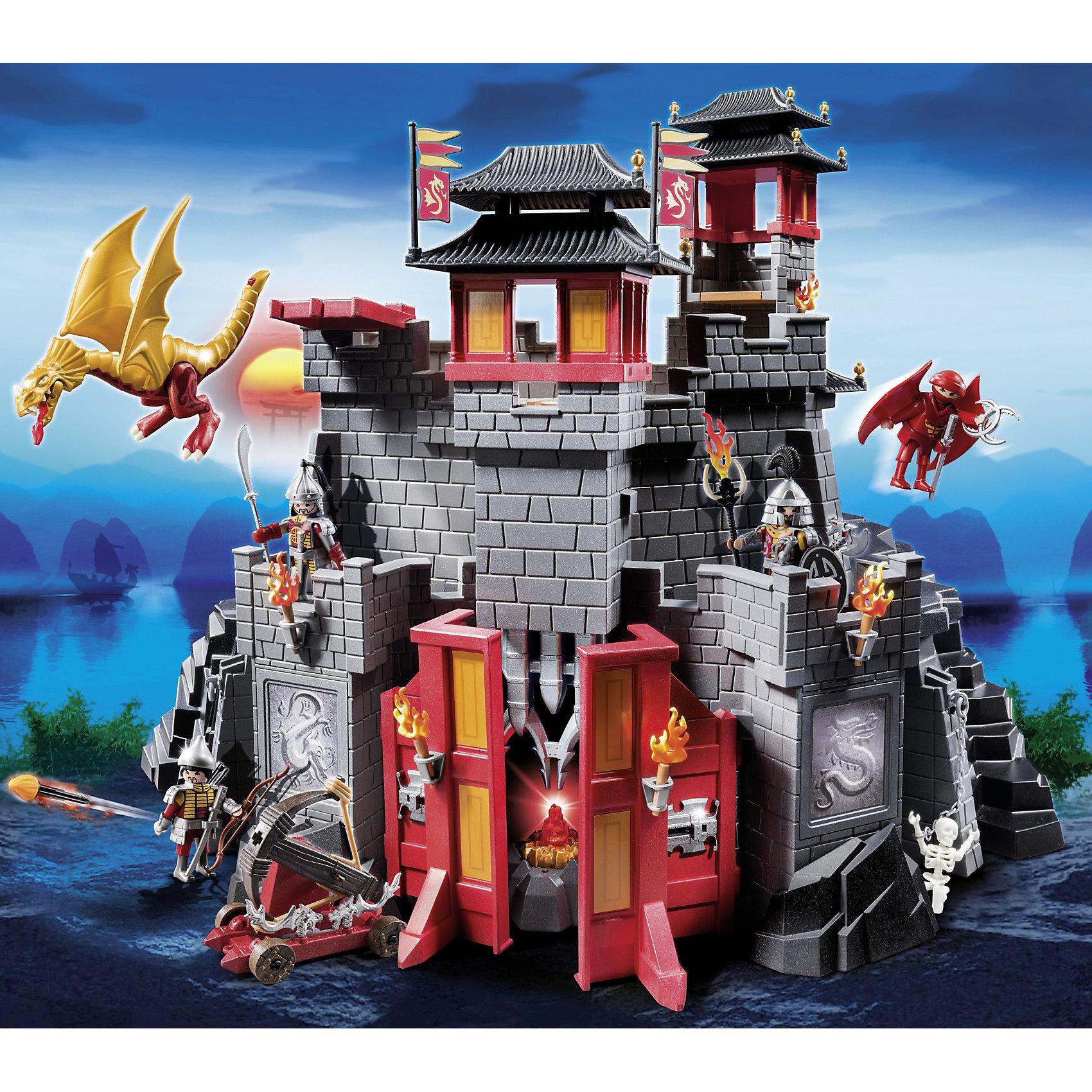 PLAYMOBIL® Восточный замок с золотым драконом, PLAYMOBIL playmobil 5266 summer fun детский клуб с танц площадкой