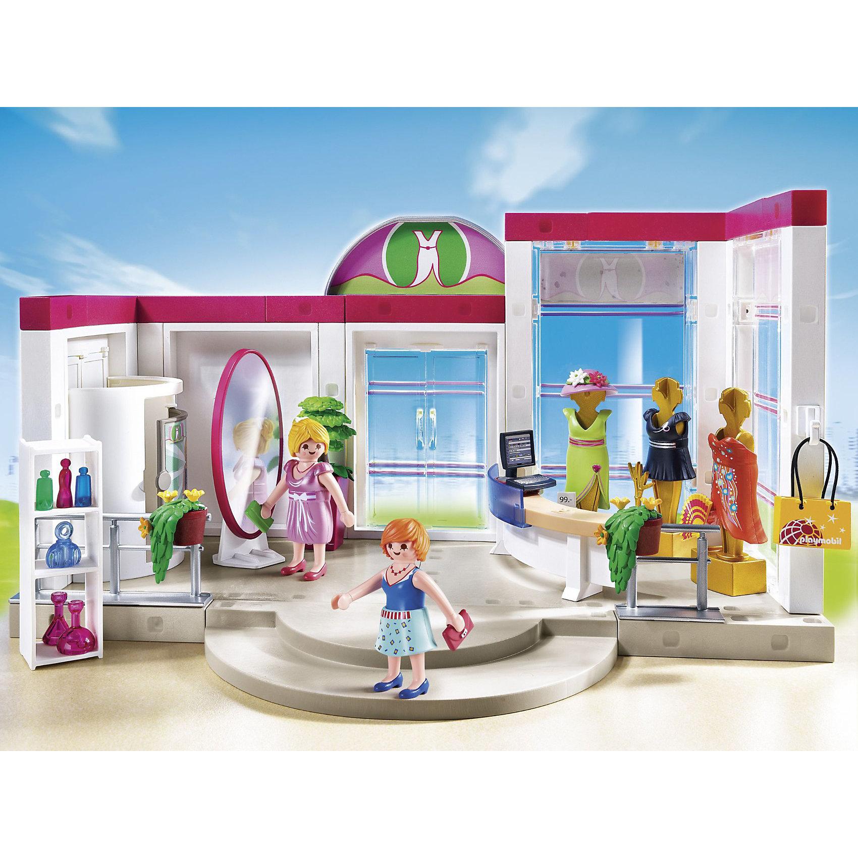 PLAYMOBIL® Бутик с одеждой и гардеробной, PLAYMOBIL конструктор playmobil модный бутик девушка в летнем наряде 6882pm
