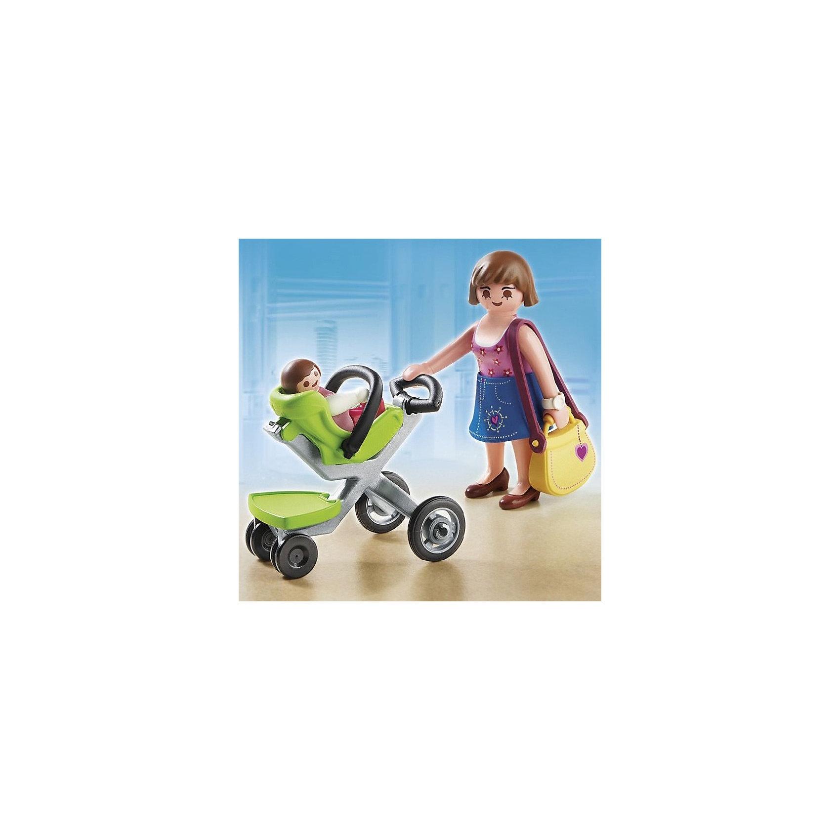 Покупательница с ребенком в коляске, PLAYMOBILПластмассовые конструкторы<br>Конструктор PLAYMOBIL (Плеймобил) 5491 Торговый центр: Покупательница с ребенком в коляске - прекрасная возможность для ребенка проявить свой творческий потенциал! Полезный конструктор для развития Вашего ребенка должен быть именно таким: красочным, безопасным и очень функциональным. Мама и малыш отправились в торговый центр PLAYMOBIL (Плеймобил). Малыш с удовольствием рассматривает витрины. Если мама захочет зайти в магазин, то сиденье с малышом можно отстегнуть от коляски. В удобной прогулочной коляске найдется место и для покупок из торгового центра. Создай увлекательные сюжеты с набором Покупательница с ребенком в коляске или объедини его с другими наборами серии и игра станет еще интереснее. Придумывая замечательные сюжеты с деталями конструктора, Ваш ребенок развивает фантазию, учится заботе и просто прекрасно проводит время!<br><br>Дополнительная информация:<br><br>- Конструкторы PLAYMOBIL (Плеймобил) отлично развивают мелкую моторику, фантазию и воображение;<br>- В наборе: 2 минифигурки (мама и ребенок), сумка, одежда, коляска, аксессуары;<br>- Количество деталей: 16 шт;<br>- Материал: безопасный пластик;<br>- Размер минифигурки взрослого: 7,5 см;<br>- Размер упаковки: 15 х 15 х 5 см;<br>- Вес: 141 г<br><br>Конструктор PLAYMOBIL (Плеймобил) 5491 Торговый центр: Покупательница с ребенком в коляске можно купить в нашем интернет-магазине.<br><br>Ширина мм: 152<br>Глубина мм: 154<br>Высота мм: 53<br>Вес г: 85<br>Возраст от месяцев: 60<br>Возраст до месяцев: 144<br>Пол: Женский<br>Возраст: Детский<br>SKU: 3101964