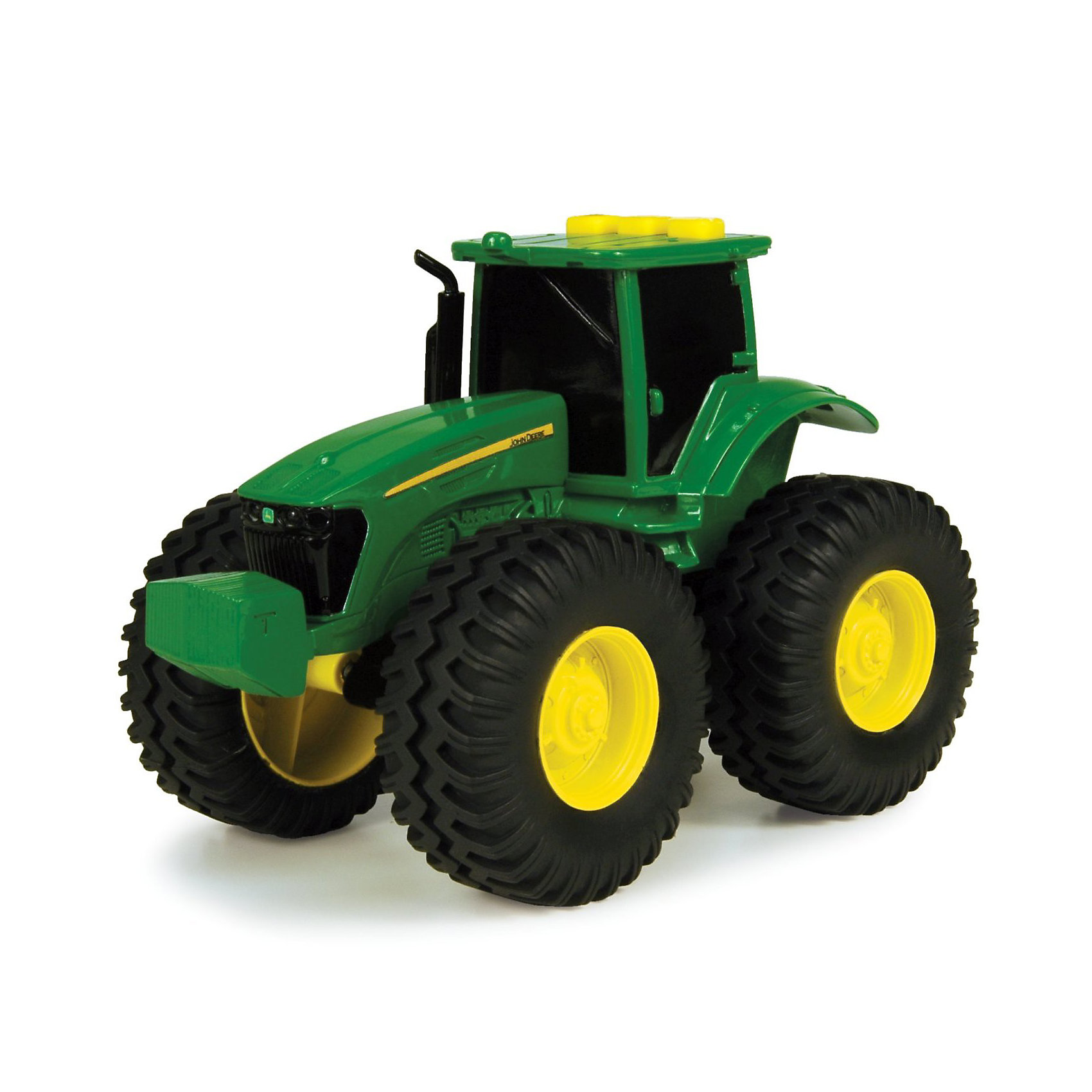 TOMY Трактор с большими колесами, TOMY машины tomy трактор john deere monster treads с большими резиновыми колесами