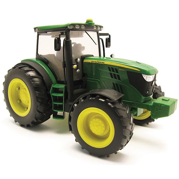 Трактор John Deere, TOMYМашинки<br>Мальчишки обожают машины и технику. Этот трактор полюбится любому ребенку. Трактор имеет большие колеса, которые уверенно проедут по любой местности. На крыше кабины находятся кнопки, при нажатии на них будет слышен звук мотора, рев трактора и включится подсветка в кабине.  Игрушка выполнена из высококачественных материалов, безопасных для детей. Все детали прекрасно проработаны и очень реалистичны. <br><br>Дополнительная информация:<br><br>- Материал: пластик, металл, резина.<br>- Цвет: зеленый, черный, желтый.<br>- Элемент питания: 3 батарейки  таблетки (в комплекте).<br>- Размер: 12 х 9 х 9 см<br>- Световые эффекты: есть.<br>- Звуковые эффекты: есть.<br><br>Трактор John Deere, TOMY можно купить в нашем магазине.<br><br>Ширина мм: 347<br>Глубина мм: 251<br>Высота мм: 233<br>Вес г: 1403<br>Возраст от месяцев: 36<br>Возраст до месяцев: 96<br>Пол: Мужской<br>Возраст: Детский<br>SKU: 3102156