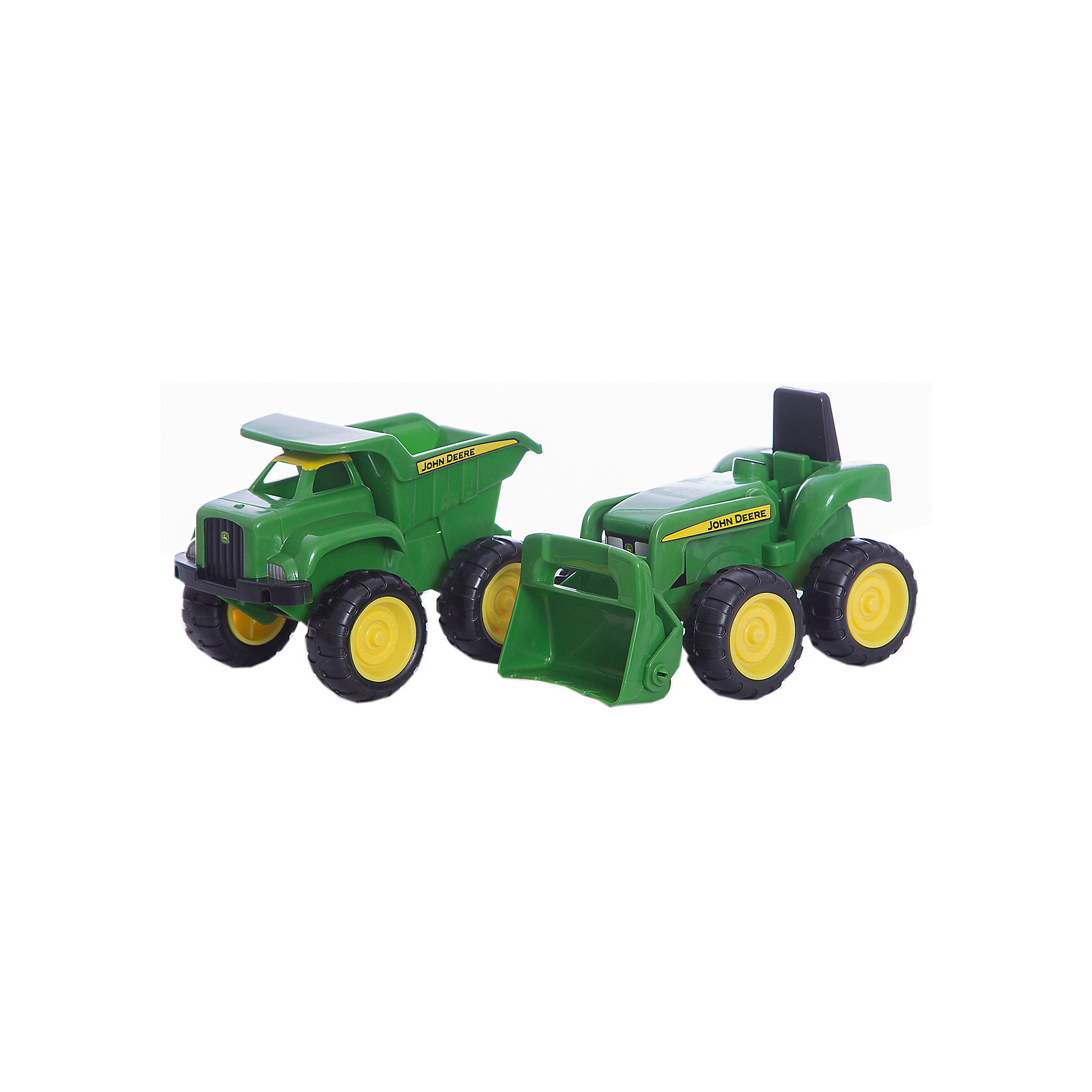 TOMY Набор для песочницы Трактор и самосвал John Deere, TOMY tomy britains трактор john deere 6210r