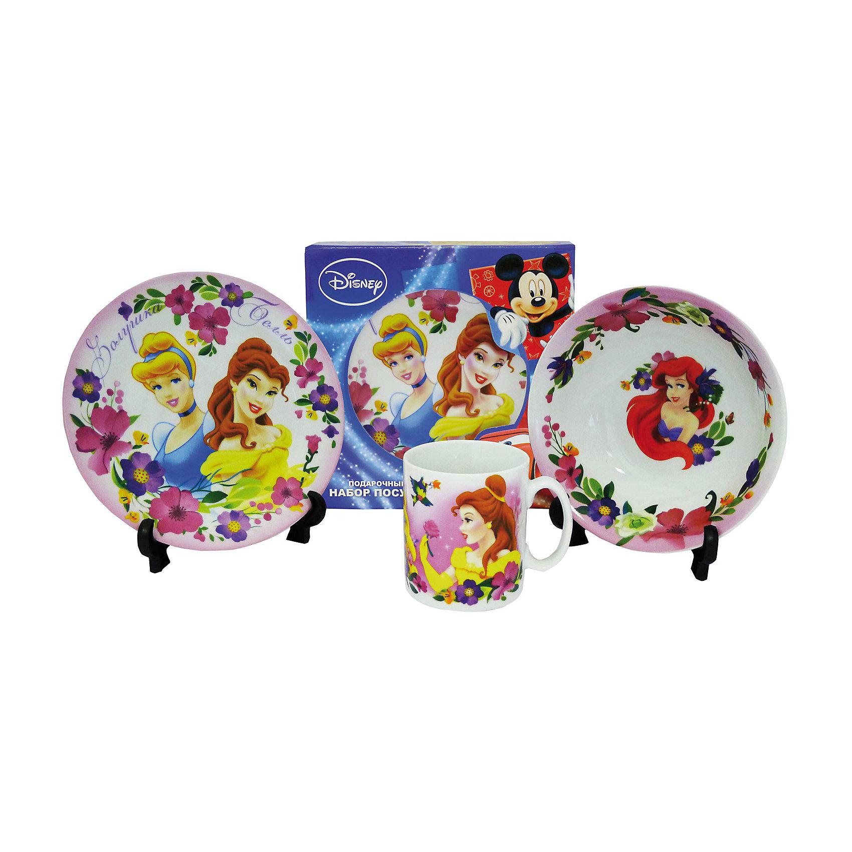 Disney Princess Набор из 3-х керамических предметов в подарочной коробке
