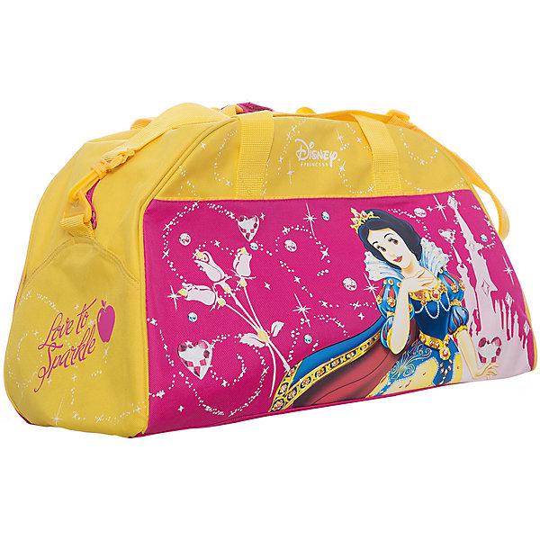 Сумка спортивная Принцессы ДиснейСпортивные сумки<br>Удобная и вместительная сумка Принцессы одинаково элегантно может использоваться как дорожная или спортивная. <br><br>Дополнительная информация:<br><br>Ручки и наплечный ремень.<br>Размеры: 400*260*220 мм<br><br>Сумку спортивную Принцессы Дисней можно купить в нашем магазине.<br>Ширина мм: 400; Глубина мм: 260; Высота мм: 220; Вес г: 615; Возраст от месяцев: 48; Возраст до месяцев: 84; Пол: Женский; Возраст: Детский; SKU: 3109903;
