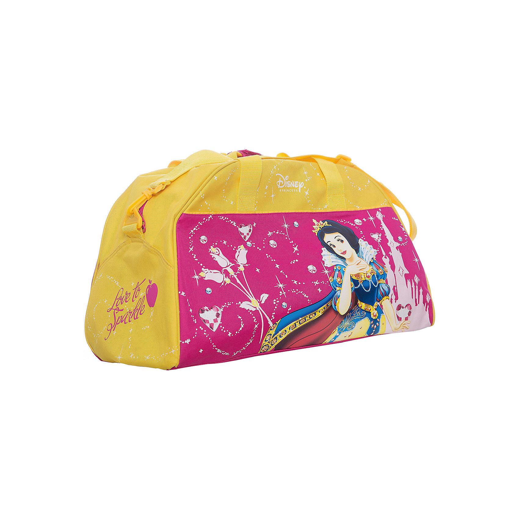 Сумка спортивная Принцессы ДиснейУдобная и вместительная сумка Принцессы одинаково элегантно может использоваться как дорожная или спортивная. <br><br>Дополнительная информация:<br><br>Ручки и наплечный ремень.<br>Размеры: 400*260*220 мм<br><br>Сумку спортивную Принцессы Дисней можно купить в нашем магазине.<br><br>Ширина мм: 400<br>Глубина мм: 260<br>Высота мм: 220<br>Вес г: 615<br>Возраст от месяцев: 48<br>Возраст до месяцев: 84<br>Пол: Женский<br>Возраст: Детский<br>SKU: 3109903