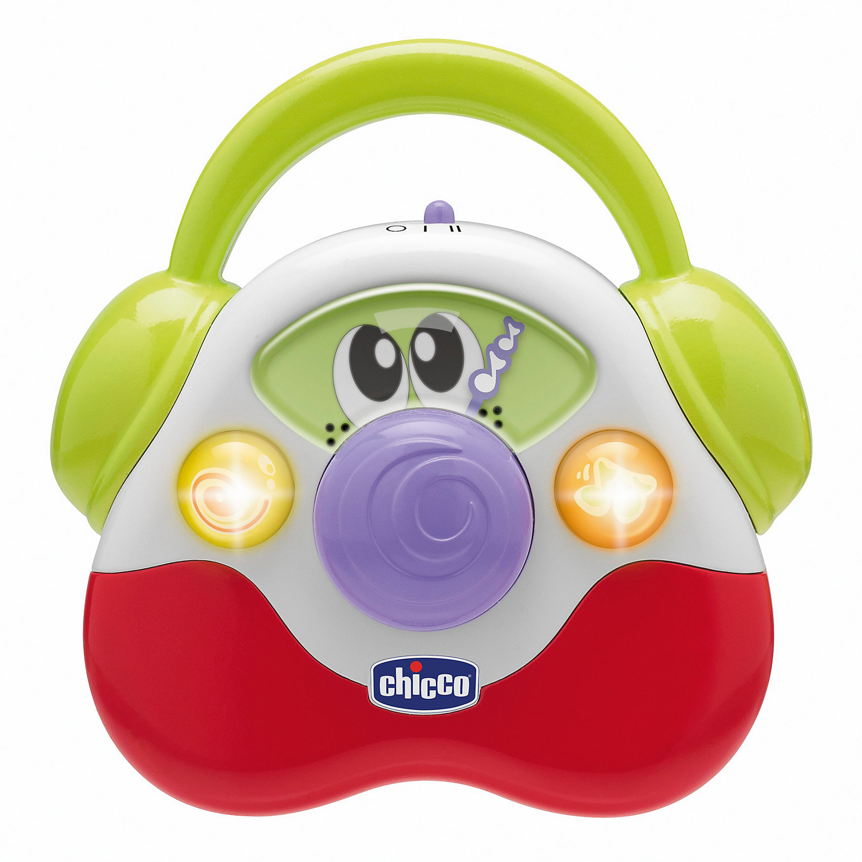 Музыкальная игрушка Детское радио, ChiccoМузыкальное Детское радио от известного бренда Chicco, обязательно понравится Вашему малышу!<br><br>Увлекательные игры для развития координации рук, световые эффекты и конечно веселая музыка! Ребенок сможет с легкостью его переносить и слушать любимые мелодии в любом месте.<br><br>Дополнительная информация:<br>- батарейки 2 шт. типа R03 AAA (1,5 V) входят в комплект.<br>- 12 предустановленных мелодий<br>- Размер: 19х9х16 см.<br>- Вес: 360 г.<br><br>Игрушку музыкальную Детское радио, Chicco можно купить в нашем интернет - магазине.<br><br>Ширина мм: 166<br>Глубина мм: 90<br>Высота мм: 192<br>Вес г: 357<br>Возраст от месяцев: 6<br>Возраст до месяцев: 24<br>Пол: Унисекс<br>Возраст: Детский<br>SKU: 3111448