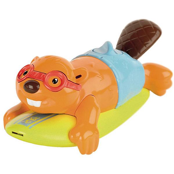Игрушка для ванной Бобер-серфингист, TOMYИгрушки для ванной<br>Игрушка для ванной Бобер-серфингист Tomy (Томи) - красочная привлекательная игрушка, которая превратит купание малыша в веселую увлекательную игру. Если повернуть специальную рукоятку, расположенную на спинке бобра, он поплывет, забавно помахивая хвостом. Смешной бобер на доске для серфинга будет передвигаться по поверхности воды, радуя и забавляя ребенка. А если надавить на хвост серфингиста, он споет Вам веселую песенку. Игрушка изготовлена из высококачественного пластика, имеет крупные округлые формы, удобные и безопасные для малыша.<br><br>Дополнительная информация:<br><br>- Материал: пластик.<br>- Требуются батарейки: 3 х LR44 (в комплекте демонстрационные).<br>- Размер игрушки: 19 х 10 х 8 см.<br>- Вес: 0,417 кг.<br><br>Игрушку для ванной Бобер-серфингист, Tomy (Томи), можно купить в нашем интернет-магазине.<br><br>Ширина мм: 216<br>Глубина мм: 190<br>Высота мм: 126<br>Вес г: 349<br>Возраст от месяцев: 12<br>Возраст до месяцев: 48<br>Пол: Унисекс<br>Возраст: Детский<br>SKU: 3127701