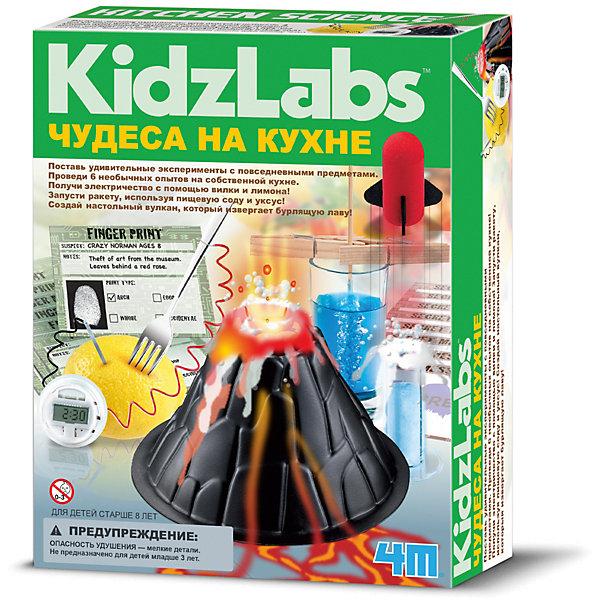 Чудеса на кухнеХимия<br>Научно-познавательный набор для юных ученых и исследователей. Стань ученым и поставь удивительные эксперименты с повседневными материалами, которые легко найти на кухне. Интересный вдохновляющий набор. Содержит 6 специально спланированных экспериментов. Создай электричество с помощью вилки и лимона и заставь лампочку светиться. Запусти ракету с помощью пищевой соды и уксуса. Создай настольный вулкан, который извергает лаву и многое другое!<br><br>Ширина мм: 220<br>Глубина мм: 170<br>Высота мм: 60<br>Вес г: 200<br>Возраст от месяцев: 84<br>Возраст до месяцев: 2147483647<br>Пол: Унисекс<br>Возраст: Детский<br>SKU: 3139121