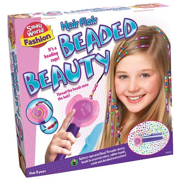 Набор для творчества Красивые прически из бисера, CreativeНаборы стилиста и дизайнера<br>Набор для творчества Красивые прически из бисера позволит юным модницам создавать грандиозные прически и стать одним из лучших знатоков всех секретов красоты. <br><br>Дополнительная информация:<br><br>Набор состоит из машинки для нанизывания бисера на волосы, 100 больших бисеринок, 100 маленьких бисеринок, 30 резиночек и расчески. Техника создания прически достаточно проста и ее освоит каждый ребенок.<br><br>Станет лучшим подарком Вашей юной красавице!<br><br>Ширина мм: 300<br>Глубина мм: 300<br>Высота мм: 60<br>Вес г: 400<br>Возраст от месяцев: 72<br>Возраст до месяцев: 2147483647<br>Пол: Женский<br>Возраст: Детский<br>SKU: 3139135