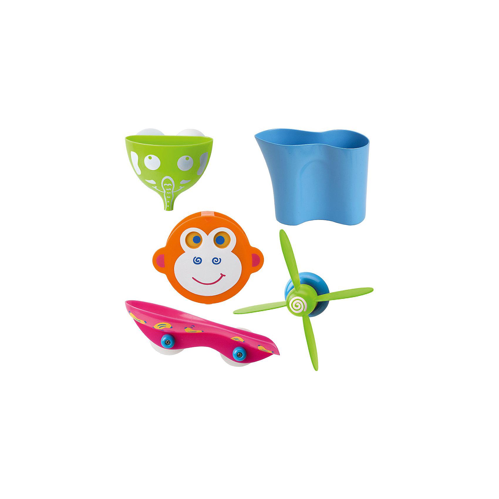 Набор для ванны Водопад в джунглях, AlexИгрушки ПВХ<br>Веселая игра для игры в ванной - Водопад в джунглях.Игрушка крепится на присоске к плитке. Выливая воду на обезьянку, она забавно шевелит глазками, а моторчик разбрызгивает воду. Для детей от 2-х лет<br><br>Ширина мм: 290<br>Глубина мм: 290<br>Высота мм: 20<br>Вес г: 197<br>Возраст от месяцев: 36<br>Возраст до месяцев: 60<br>Пол: Унисекс<br>Возраст: Детский<br>SKU: 3139465