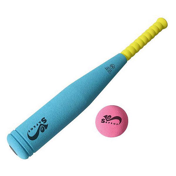 Бита бейсбольная, 45 см, SafSofИгровые наборы<br>Превосходная бейсбольная бита для активного отдыха.<br><br><br> Она физически развивает ребенка, улучшает координацию движений и меткость. Стильный и яркий дизайн не оставит равнодушным вашего малыша. <br><br><br>Кроме того, бейсбольная бита исключает получение травм во время игры, потому как изготовлена из вспененной резины.<br><br>Дополнительная информация:<br><br>- В набор входит: бейсбольная бита 45 см. и мяч.<br>-  Материал: вспененная резины. <br>- Игрушка безвредна и экологична, легко чистится и моется.<br><br>Биту бейсбольную, 45 см, SafSof можно купить в нашем магазине.<br>Ширина мм: 450; Глубина мм: 100; Высота мм: 150; Вес г: 630; Возраст от месяцев: 36; Возраст до месяцев: 1188; Пол: Унисекс; Возраст: Детский; SKU: 3141264;