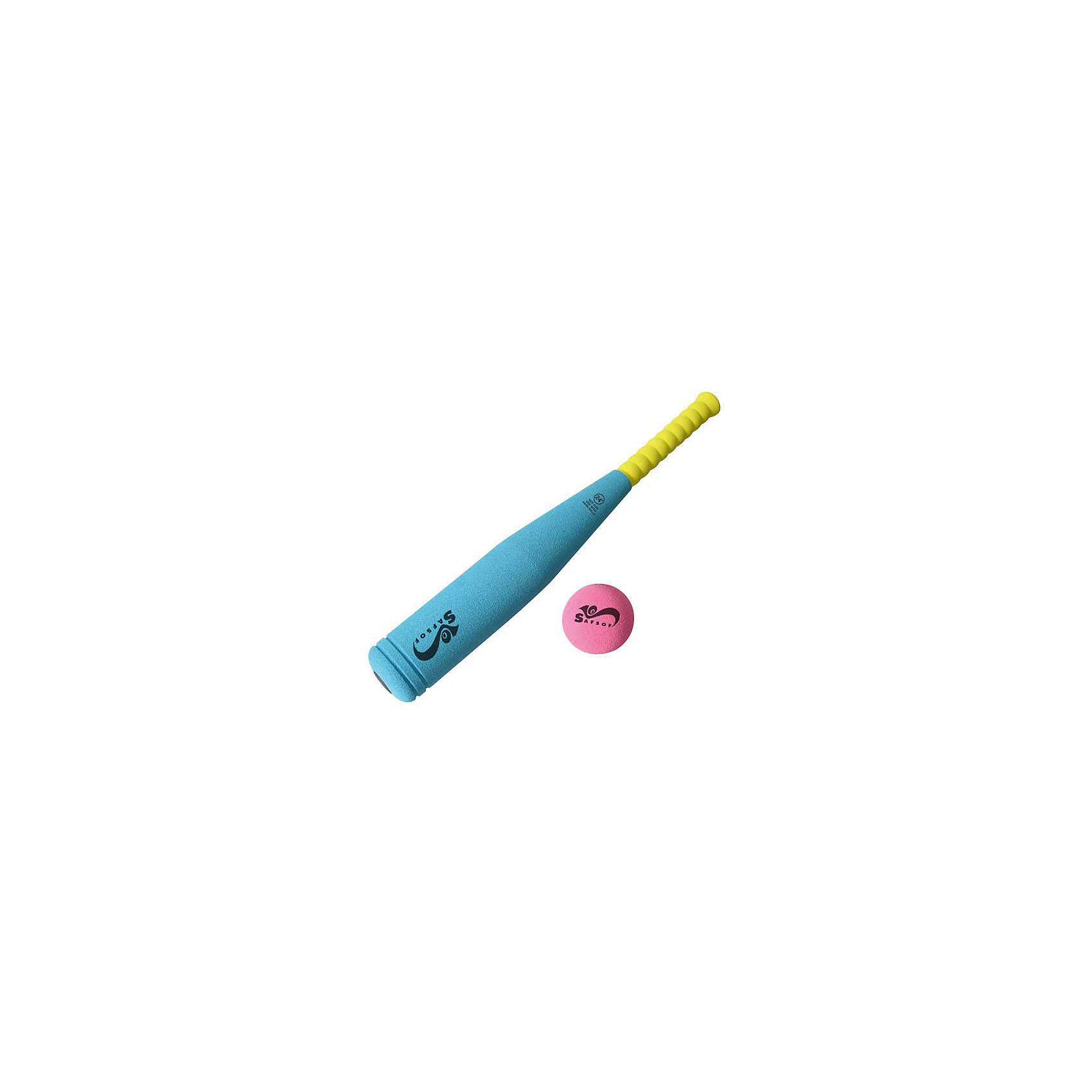 SafSof Бита бейсбольная, 45 см, SafSof safsof игровой набор бейсбольная бита и мяч цвет зеленый желтый