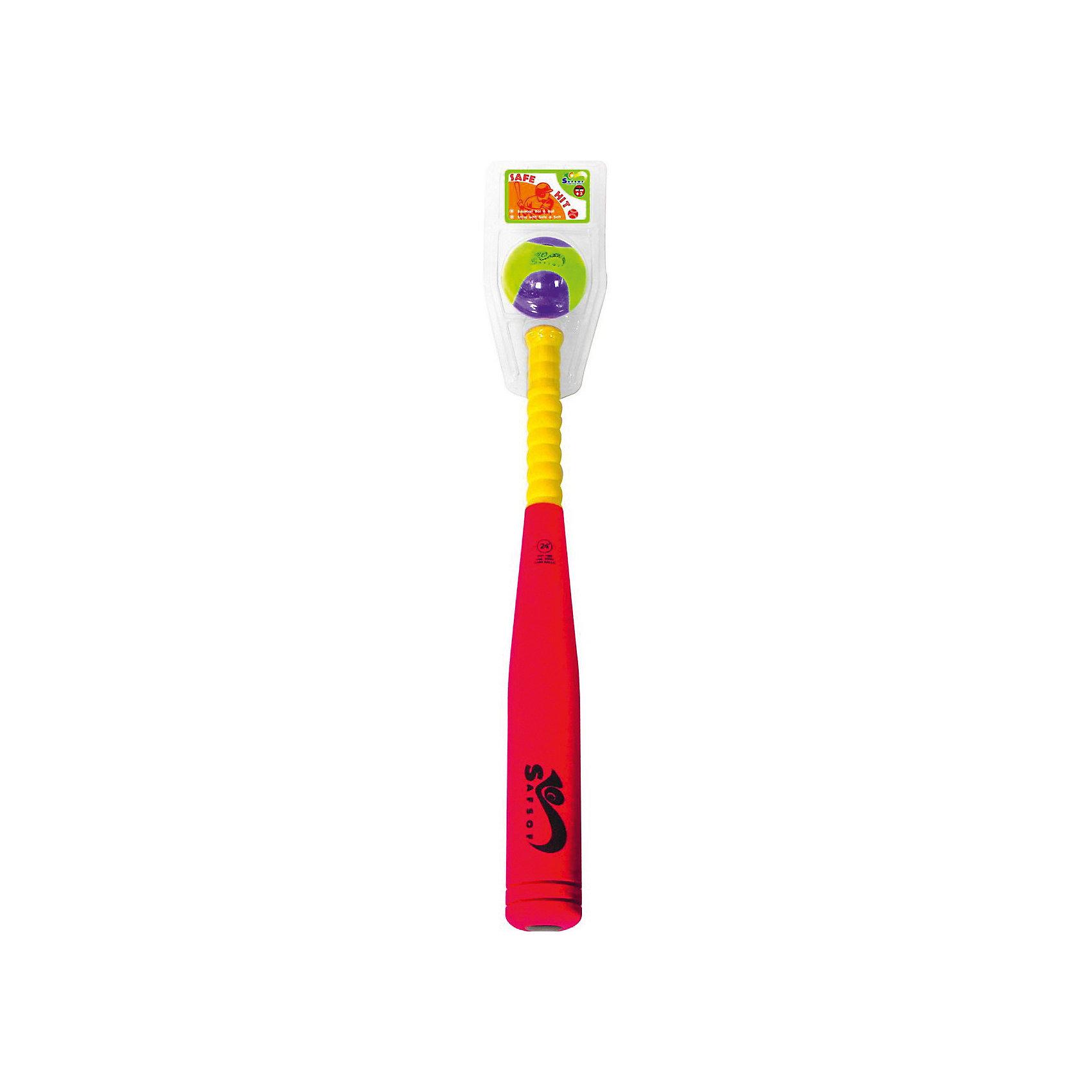 SafSof Бита бейсбольная, SafSof safsof игровой набор бейсбольная бита и мяч цвет зеленый желтый