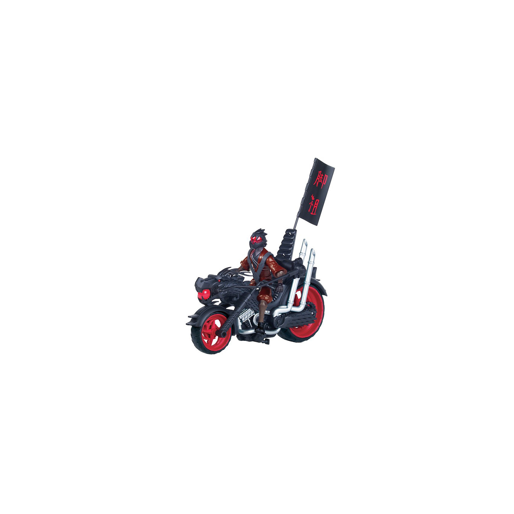 Мотоцикл с фигуркой Черепашки НиндзяМотоцикл клана Фут с катапультой - он станет отличным подарком для всех поклонников популярного мультсериала Черепашки Ниндзя.<br><br>Достаточно нажать на кнопку в задней части мотоцикла, и фигурка катапультируется из седла, сделает сальто на 360° и приземлится прямо на ноги.<br>В наборе эксклюзивная фигурка Фега - война дракона. <br><br>Дополнительная информация:<br><br>- В комплект входит: транспортное средство с катапультой, 1 фигурка.<br>- Материал: пластмасса.<br>- Мотоцикл также подходит для базовых фигурок Черепашек, арт. 3142479<br>- Размер упаковки – 22х45х35 см., размер фигурки около 12.5 см<br><br>Черепашки Ниндзя (Teenage Mutant Ninja Turtles) Мотоцикл с фигуркой можно купить в нашем магазине.<br><br>Ширина мм: 330<br>Глубина мм: 105<br>Высота мм: 190<br>Вес г: 873<br>Возраст от месяцев: 36<br>Возраст до месяцев: 144<br>Пол: Мужской<br>Возраст: Детский<br>SKU: 3142481