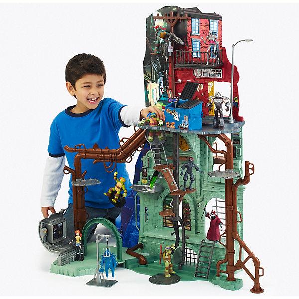Большой игровой набор, Черепашки НиндзяКоллекционные и игровые фигурки<br>Огромный игровой набор (более 1 метра в высоту), который станет отличным подарком для всех поклонников и коллекционеров Чрепашек Ниндзя (Ninja Turtles).<br><br>Более 20 различных функций и уровнямей для сражений: механический лифт, потайные люки, откидные лестницы, секретная лаборатория и т.д.<br>Разделяется на наземную часть и подземелье. <br><br>Дополнительная информация:<br><br>- В набор входит: детали для сборки, инструкция.<br>- Материал: пластмасса.<br><br>ВНИМАНИЕ! Фигурки Черепашек не входят в набор.<br><br>Большой игровой набор, Черепашки Ниндзя (Teenage Mutant Ninja Turtles) можно купить в нашем магазине.<br><br>Ширина мм: 800<br>Глубина мм: 190<br>Высота мм: 350<br>Вес г: 4491<br>Возраст от месяцев: 36<br>Возраст до месяцев: 144<br>Пол: Мужской<br>Возраст: Детский<br>SKU: 3142483