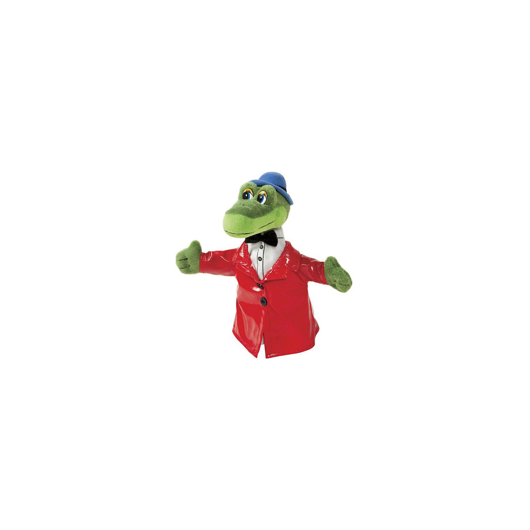 Кукла на руку Крокодил Гена, МУЛЬТИ-ПУЛЬТИИгрушки<br>Перчаточная игрушка на руку Крокодил Гена от Мульти-Пульти хорошо подойдет для игры в кукольный театр. Со знакомым персонажем из мультфильма Чебурашка и Крокодил Гена можно разыграть множество веселых сценок из мультфильма. Оденьте Крокодила Гену на руку и можно начинать представление. Игра в кукольный театр развивает у ребенка речь, память, внимание и творческие способности.<br><br>Дополнительная информация:<br><br>- Материал: мягкий плюш, текстиль.<br>- Размер игрушки: 22 см.<br>- Вес: 0,3 кг.<br><br>Перчаточную игрушку Крокодил Гена (Чебурашка) от Мульти-Пульти можно купить в нашем магазине.<br><br>Ширина мм: 138<br>Глубина мм: 138<br>Высота мм: 230<br>Вес г: 52<br>Возраст от месяцев: 18<br>Возраст до месяцев: 144<br>Пол: Унисекс<br>Возраст: Детский<br>SKU: 3143907