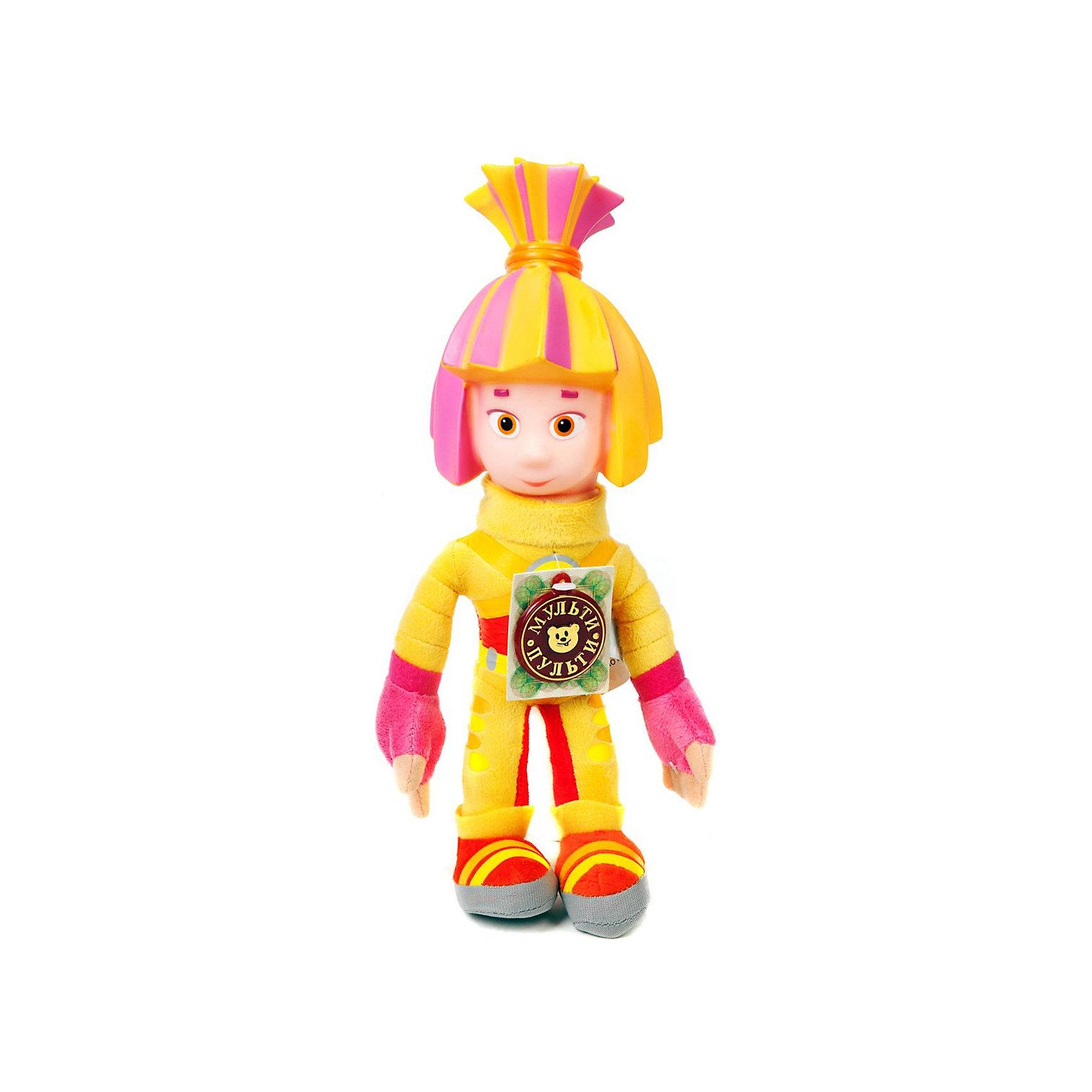 Мягкая игрушка  Симка, со светом,  28 см,  Фиксики, МУЛЬТИ-ПУЛЬТИМягкая игрушка Симка станет отличным подарком всем поклонникам мультфильма Фиксики.<br>Каждый маленький поклонник Симки, может подружиться с ней легко и просто, ведь даже будучи игрушкой, она так же фантастична и очаровательна, как и в мультфильме! <br>Но она гораздо круче мультяшной! Ее можно обнимать, и даже очень приятно, поскольку Симка мягкая, с ней можно играть и придумывать свои истории, наделять другими чертами характера и возможностями, в общем, фантазировать как угодно. А она в свою очередь, будет говорить и петь. Для того, чтобы разговорить Симку, нужно просто нажать на нее. <br><br>Дополнительная информация:<br><br>- Игрушка произносит 11 фраз и поет песенку.<br>- Высота игрушки 28 см.<br>- Работа от батареек<br>- Материал: искусственный мех, пластик, полиэстр<br><br>Симка станет лучшим другом ребенка, воспитывая в нем доброту, заботу, дружбу и верность.<br><br>Мягкую игрушку Симка со светом 28 см можно купить в нашем магазине.<br><br>Ширина мм: 168<br>Глубина мм: 168<br>Высота мм: 280<br>Вес г: 63<br>Возраст от месяцев: 18<br>Возраст до месяцев: 144<br>Пол: Унисекс<br>Возраст: Детский<br>SKU: 3143928