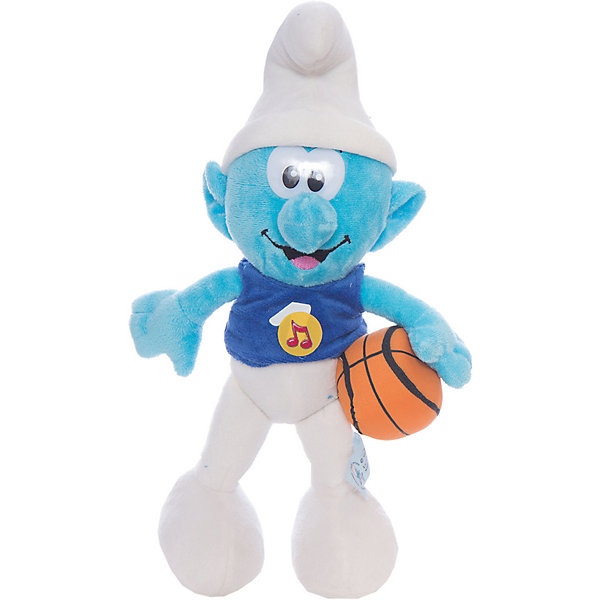 Мягкая игрушка  Смурф, со звуком, 26 см, Смурфики, МУЛЬТИ-ПУЛЬТИМягкие игрушки из мультфильмов<br>Дети обожают Смурфиков - маленьких синих созданий из одноименного мультфильма. Мягкая игрушка способна воспроизводить 10 фраз.<br><br>Дополнительная информация:<br><br>- материал: текстиль.<br>- высота игрушки: 26 см<br><br>Мягкую игрушку  Смурф, со звуком, 26 см, Смурфики, МУЛЬТИ-ПУЛЬТИ можно купить в нашем магазине.<br>Ширина мм: 156; Глубина мм: 156; Высота мм: 260; Вес г: 63; Возраст от месяцев: 18; Возраст до месяцев: 144; Пол: Унисекс; Возраст: Детский; SKU: 3143929;