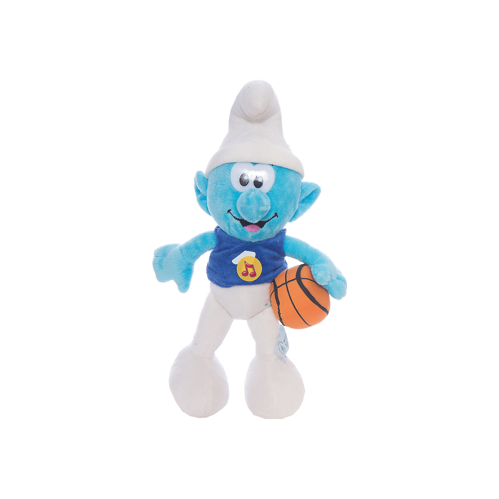 Мягкая игрушка  Смурф, со звуком, 26 см, Смурфики, МУЛЬТИ-ПУЛЬТИЛюбимые герои<br>Дети обожают Смурфиков - маленьких синих созданий из одноименного мультфильма. Мягкая игрушка способна воспроизводить 10 фраз.<br><br>Дополнительная информация:<br><br>- материал: текстиль.<br>- высота игрушки: 26 см<br><br>Мягкую игрушку  Смурф, со звуком, 26 см, Смурфики, МУЛЬТИ-ПУЛЬТИ можно купить в нашем магазине.<br><br>Ширина мм: 156<br>Глубина мм: 156<br>Высота мм: 260<br>Вес г: 63<br>Возраст от месяцев: 18<br>Возраст до месяцев: 144<br>Пол: Унисекс<br>Возраст: Детский<br>SKU: 3143929