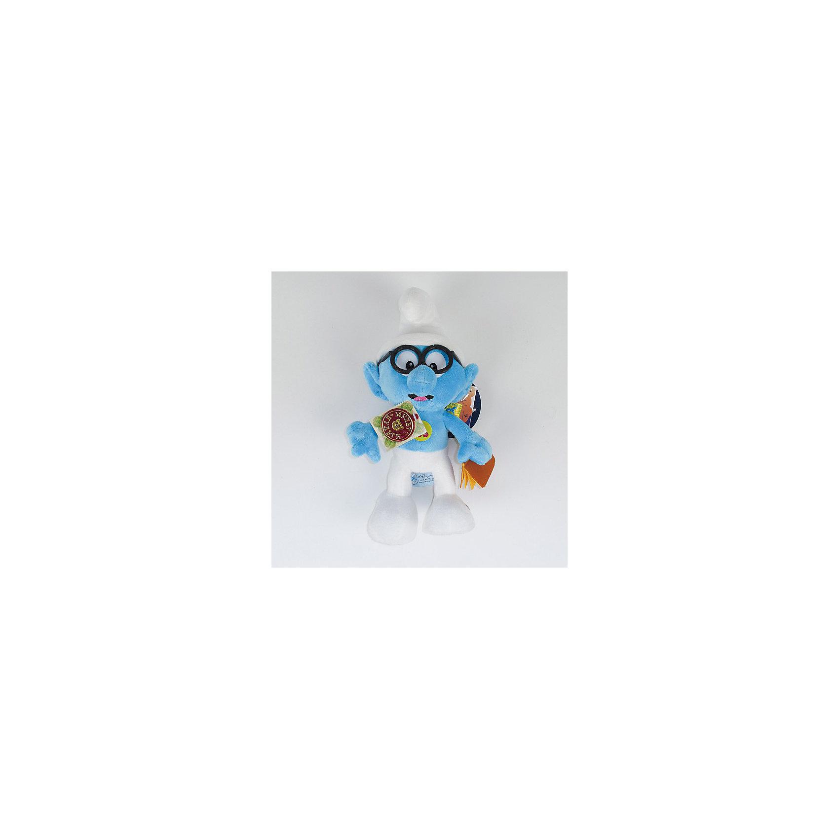 Мягкая игрушка  Смурф Умник, со звуком, 26 см,